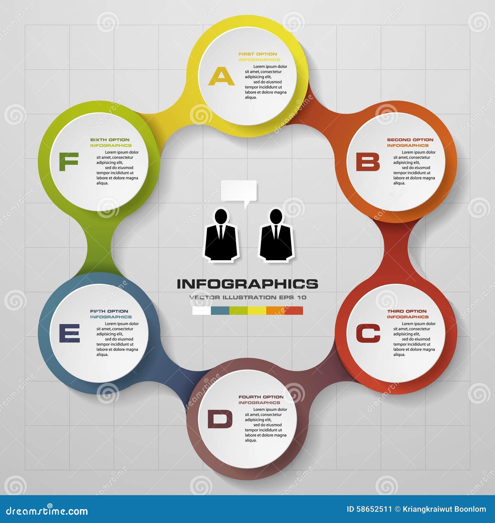 6 Steps In Modern Design Infographics Diagram  Stock