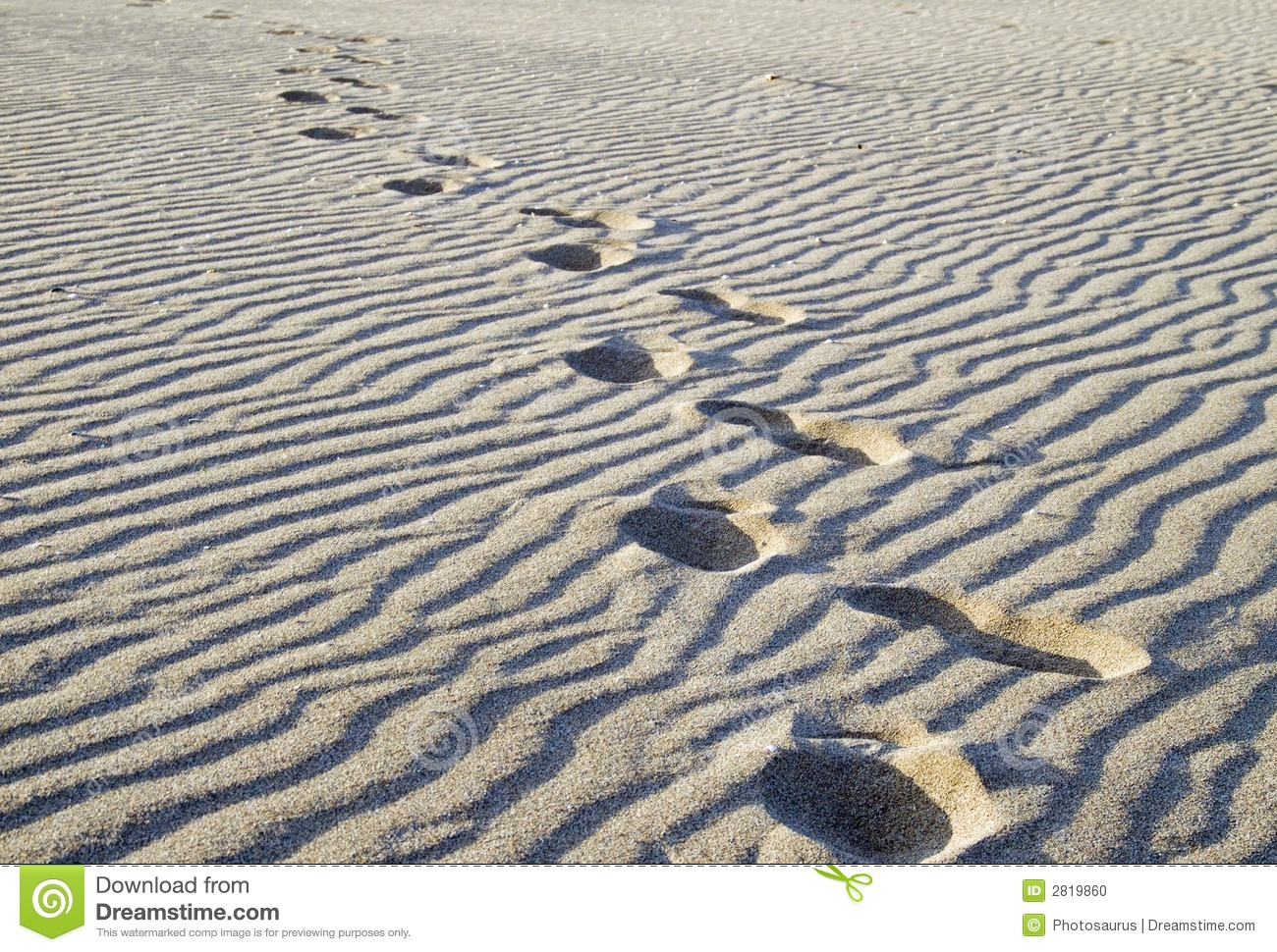 Steps in the sand