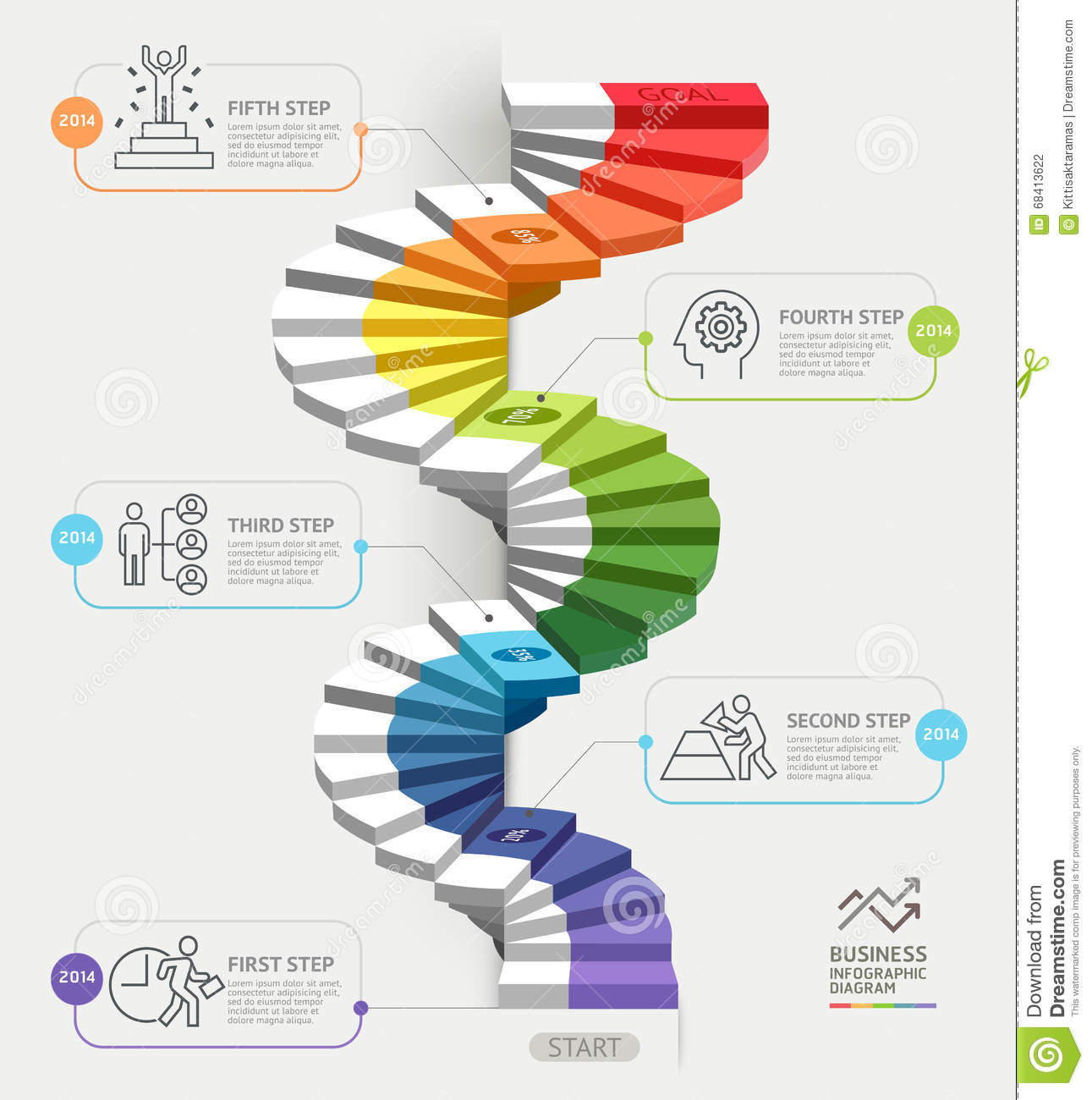Modern business stair steps to success infographic design template steps to starting a business template vector illustration accmission Gallery