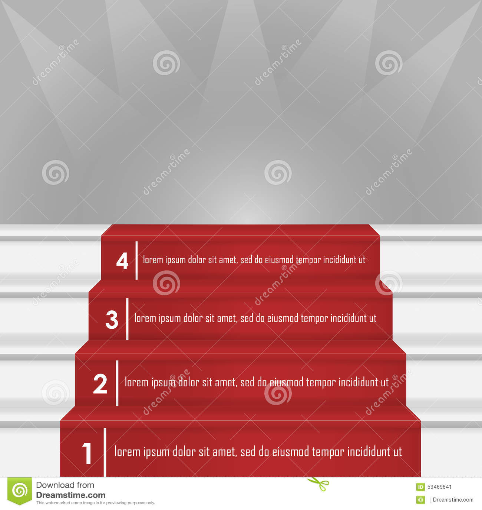 Steps To Success Image Stock Illustration - Image: 59469641