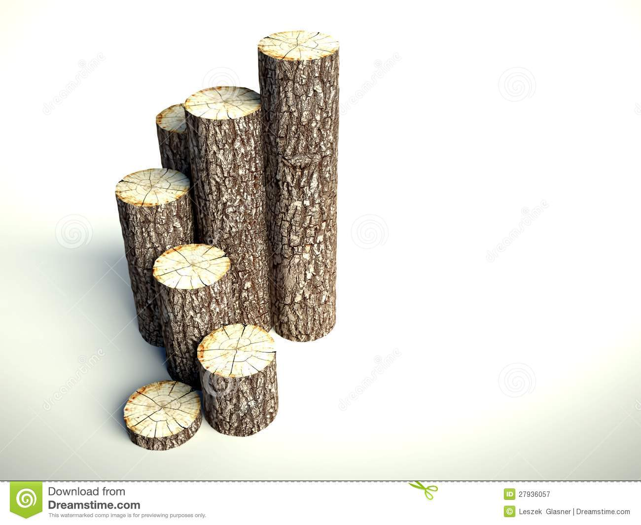 Steps Of Tree Stumps Background Royalty Free Stock