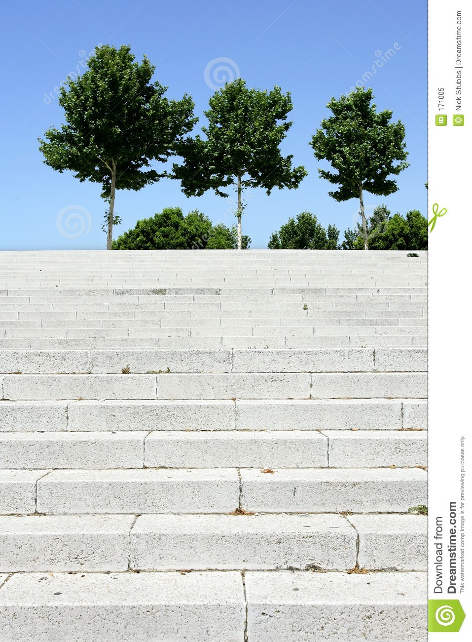Steps and trees in Seville, Spain