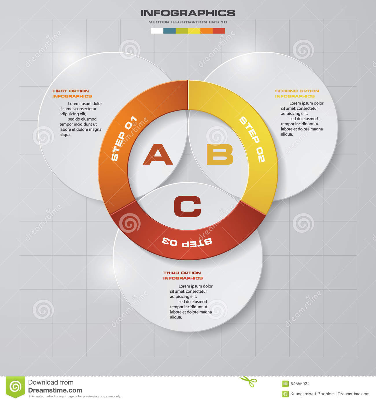3 steps vector circle arrows for infographic stock vector 3 steps vector circle arrows for infographic ccuart Image collections