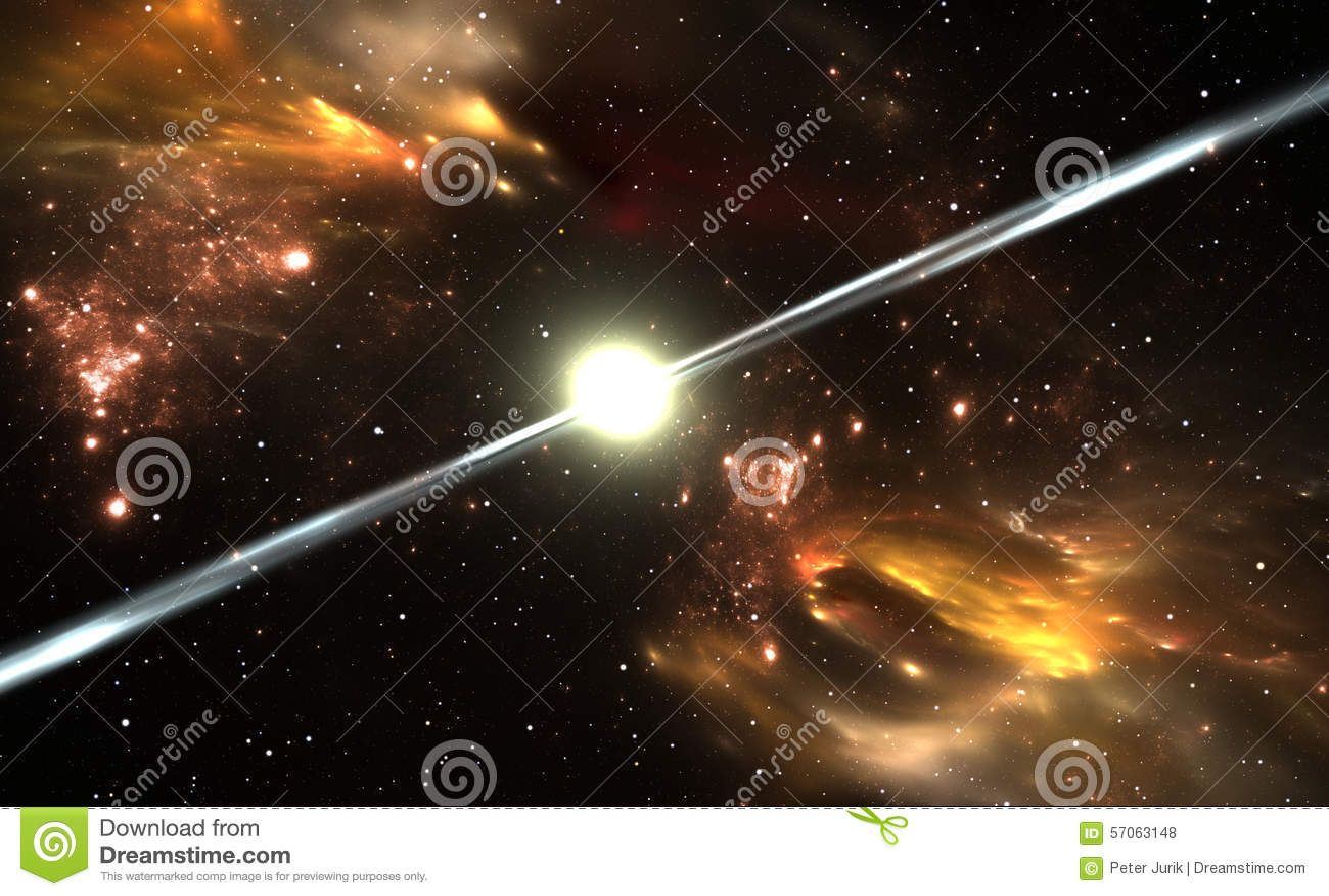 Ster van het pulsar de hoogst gemagnetiseerde, roterende neutron