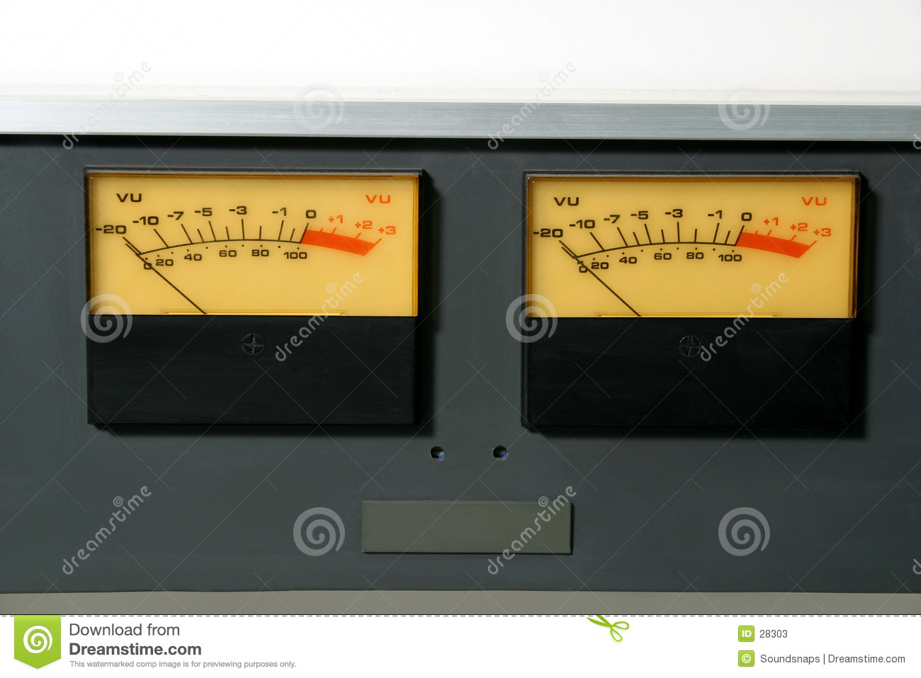 Stereo Audio Level meters