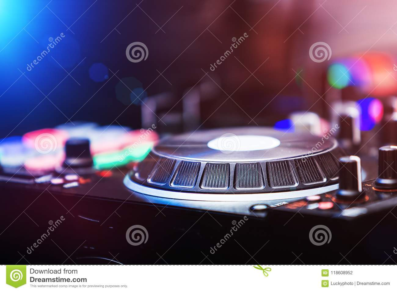 Stereo Pair Of Audio Mixer Control Panel Stock Photo Image Of Musical Concert 118608952