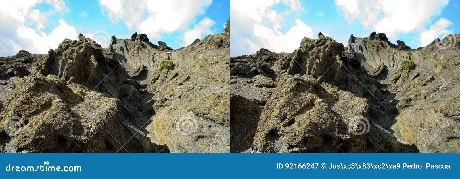 Stereo Pair Geologic Strata Stock Image Image Of Erosion Geologic 92166247