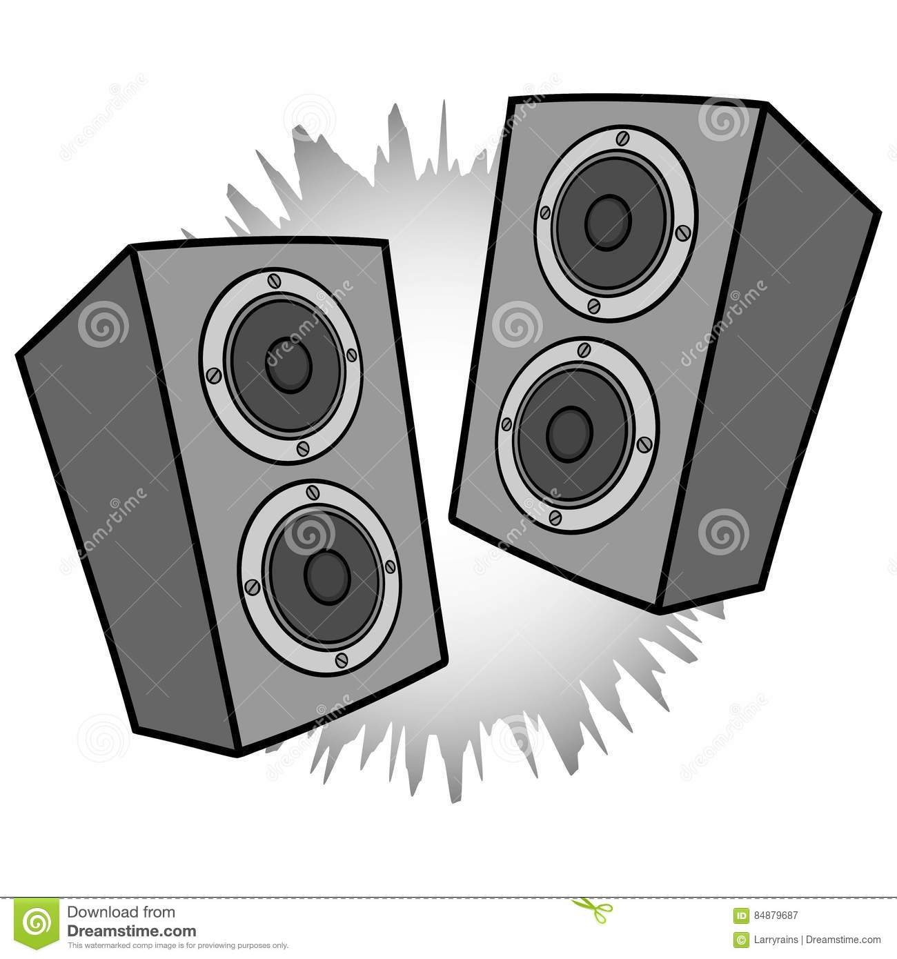 music speakers clipart. royalty-free vector. download stereo speakers illustration music clipart e