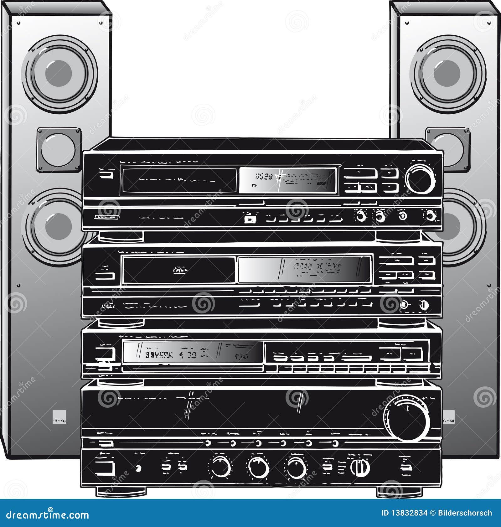 Stereo System Stock Illustration Image Of Equipment