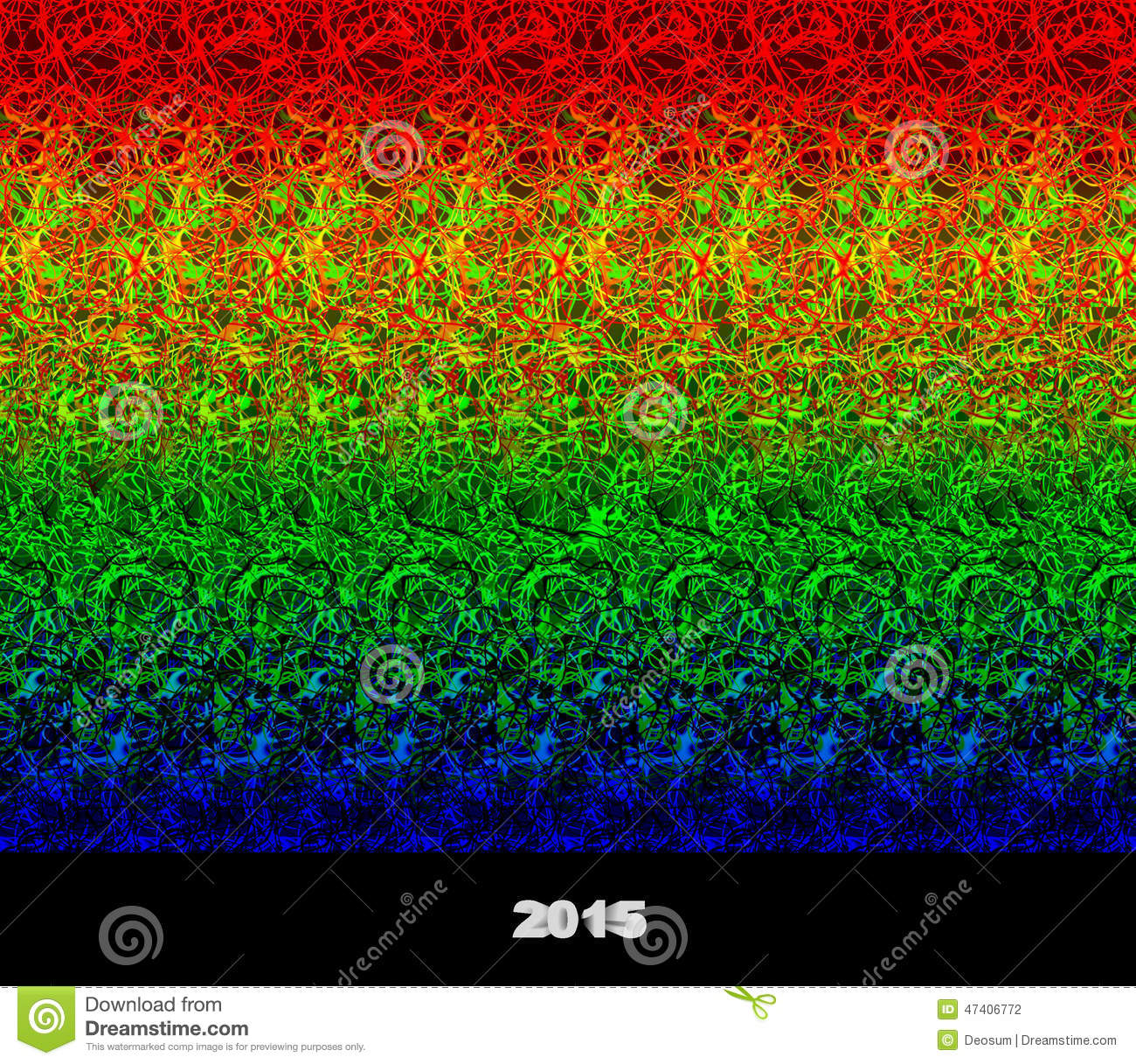 Illusion Of A 3D Image Stock