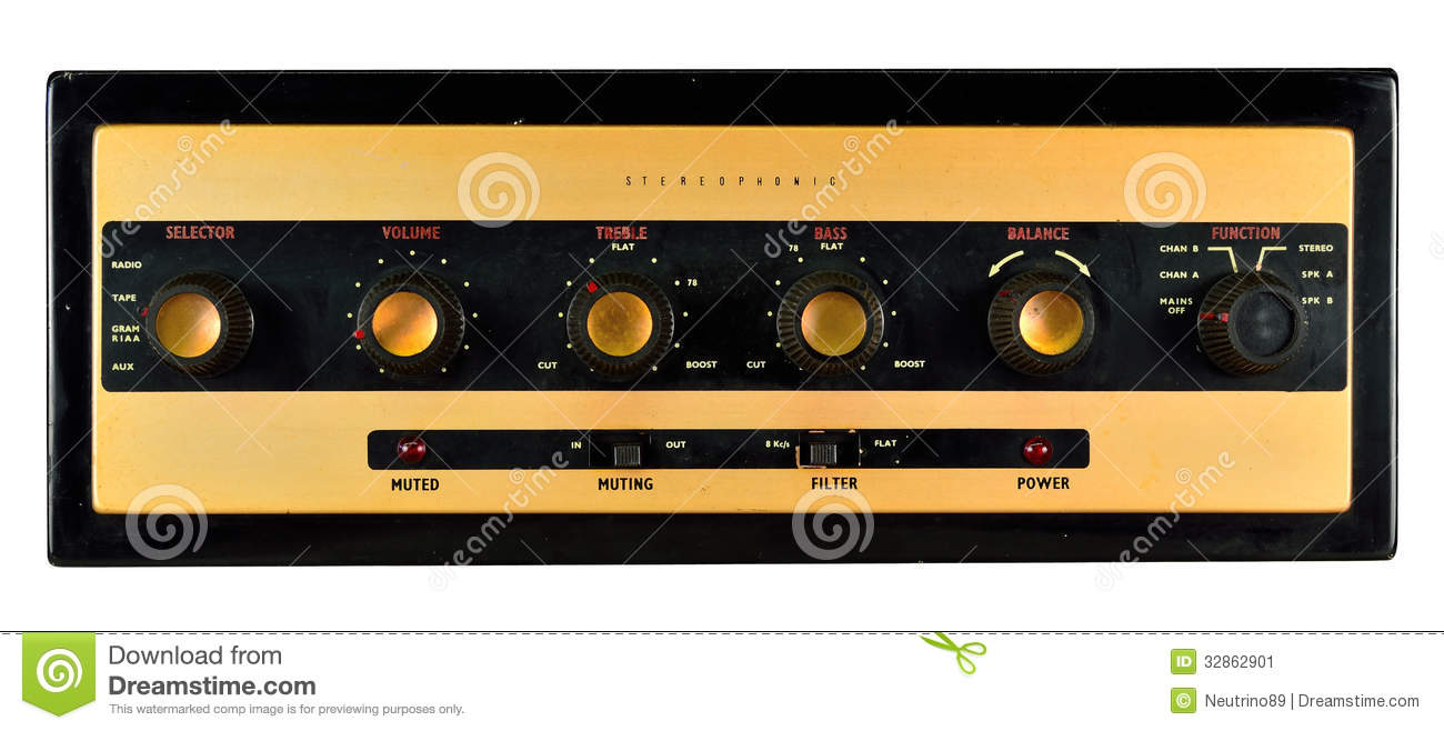 Stereophonic Valve Amplifier Stock Image - Image of stereo