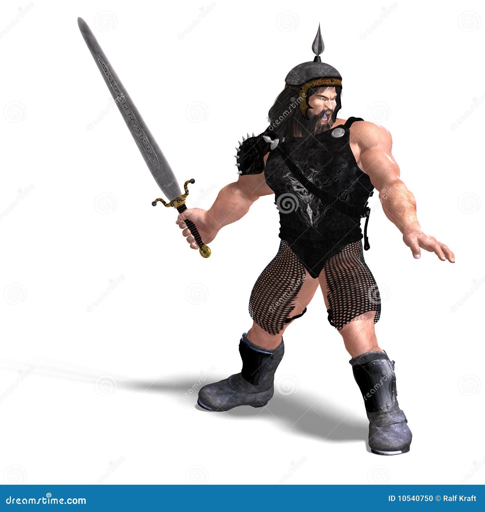 Sterke dwerg met zwaard