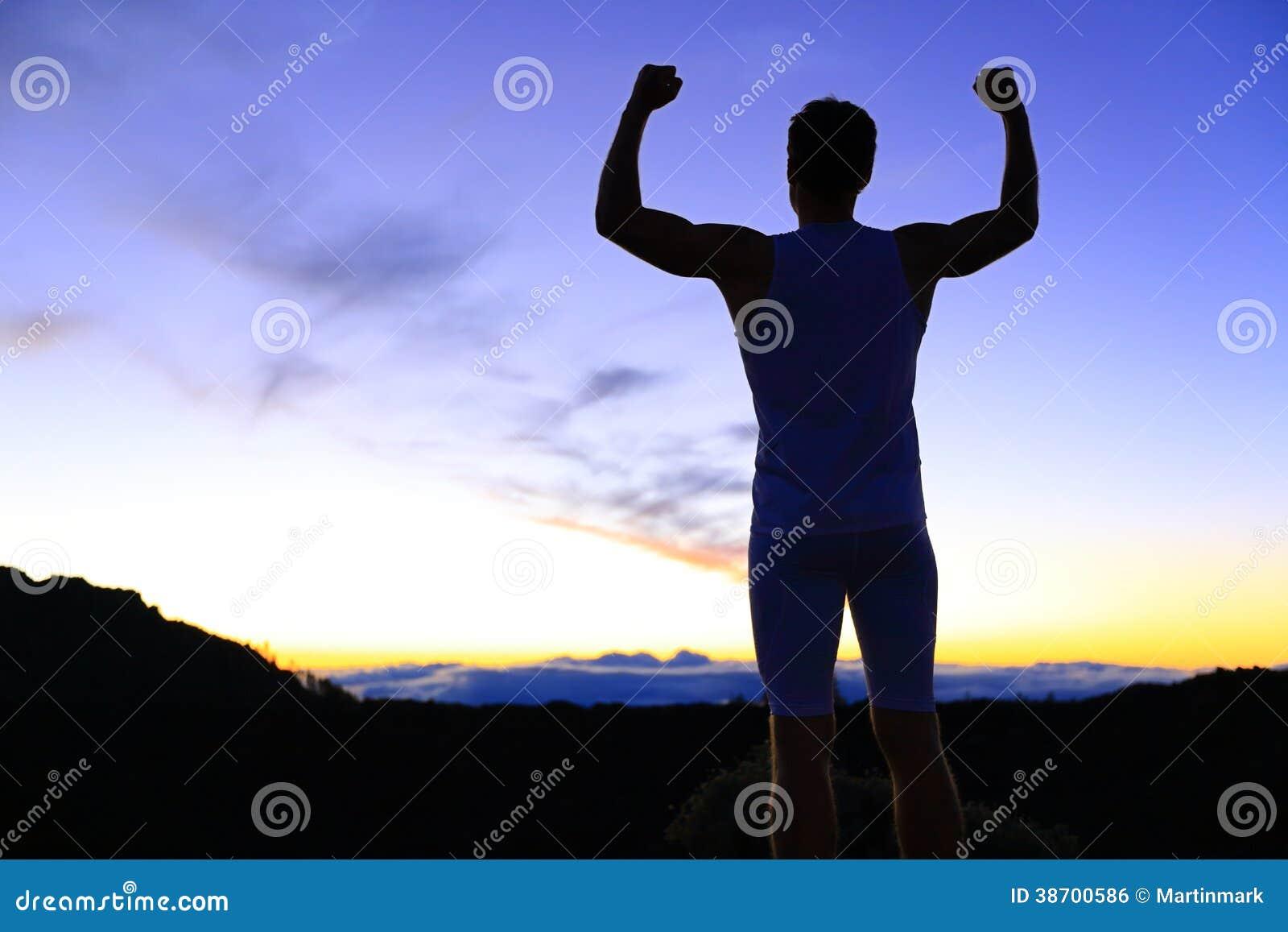 Sterkte - sterke de mensenverbuiging van de succesgeschiktheid