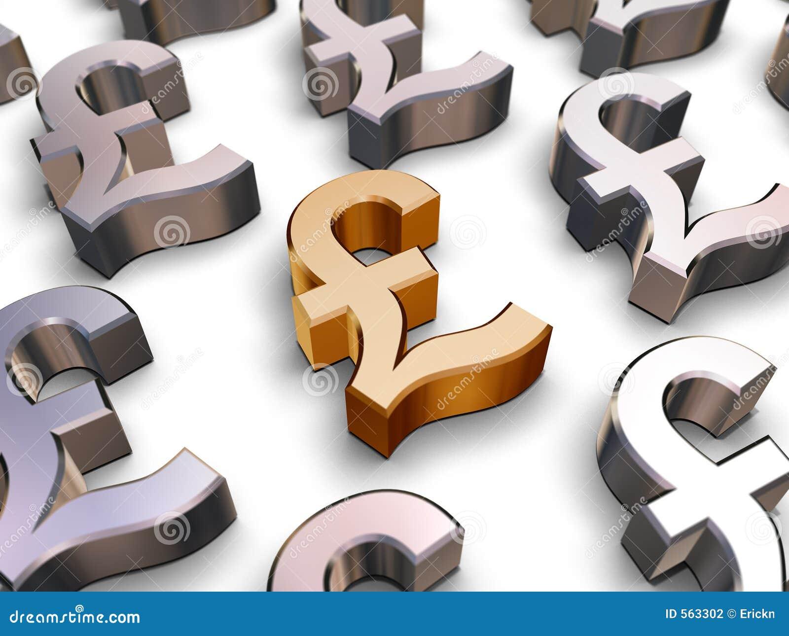 Sterlingsymbole des pounds 3D