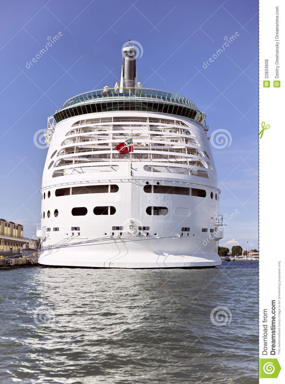 Stern Of A Cruise Ship Royalty Free Stock Photos  Image