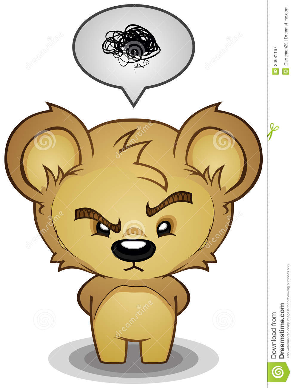 Stern Frustrated Teddy Bear Stock Vector Image 24681167