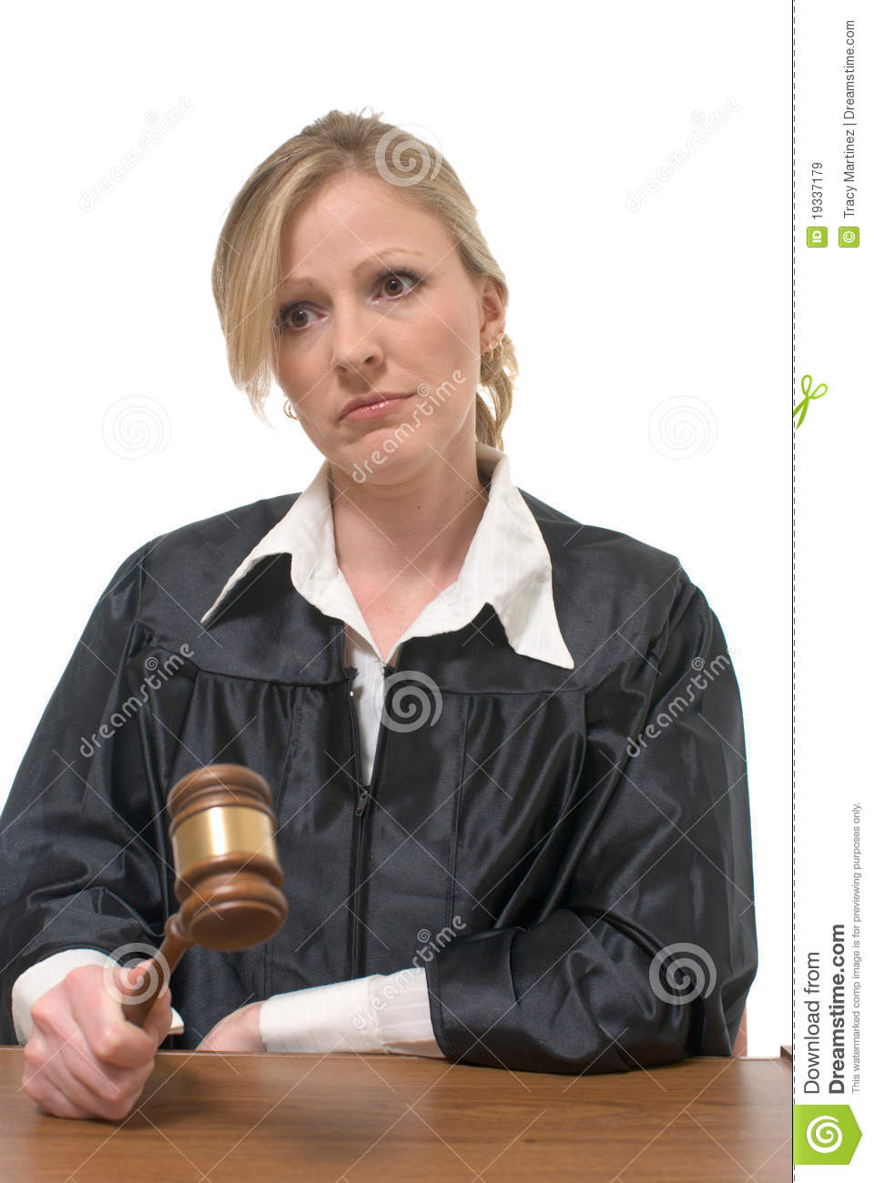 Stern Looking Woman Judge Stock Image Image Of Judgment