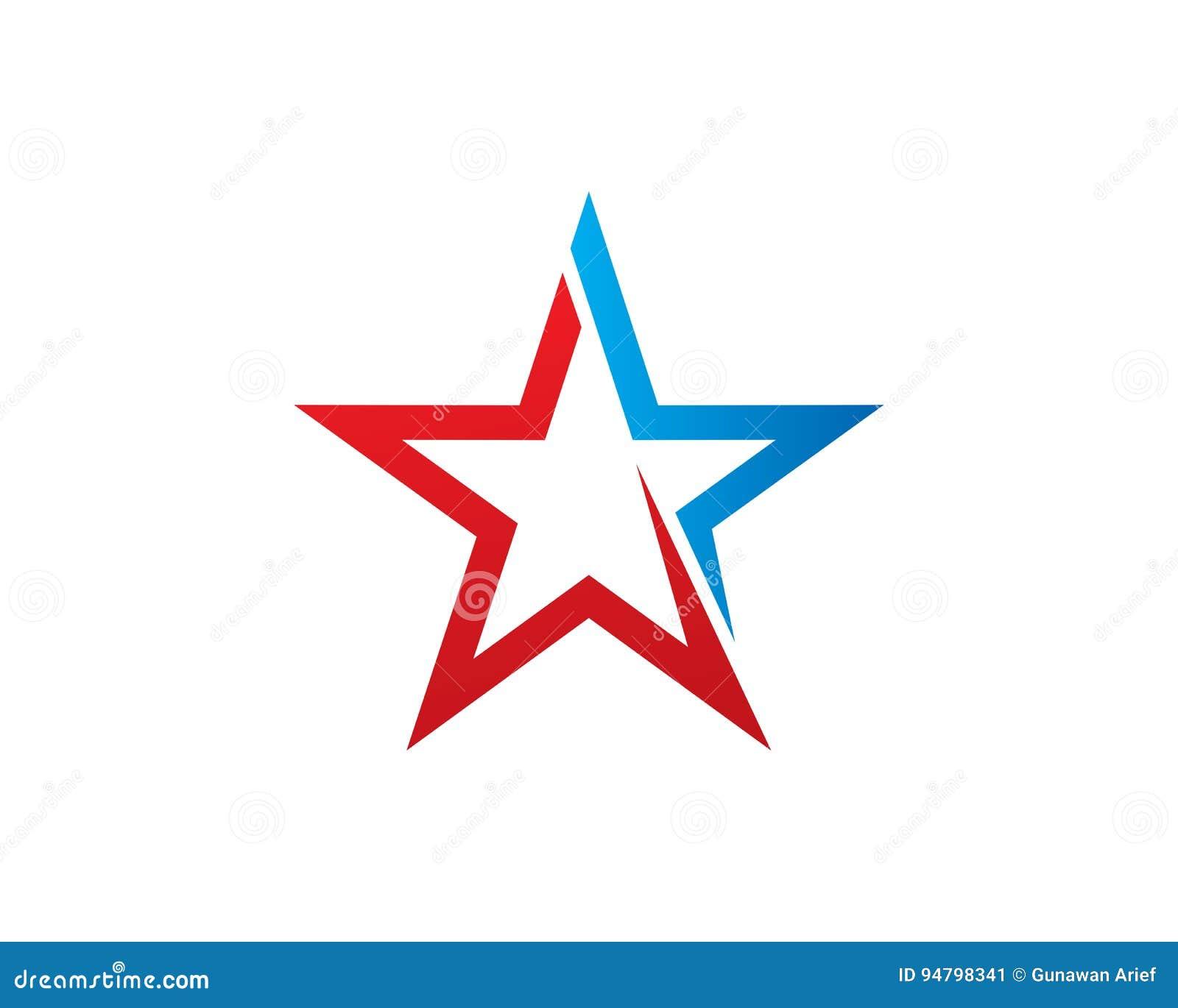 Stern-Marke Logo Template Design Vector, Emblem, Konzept Des ...