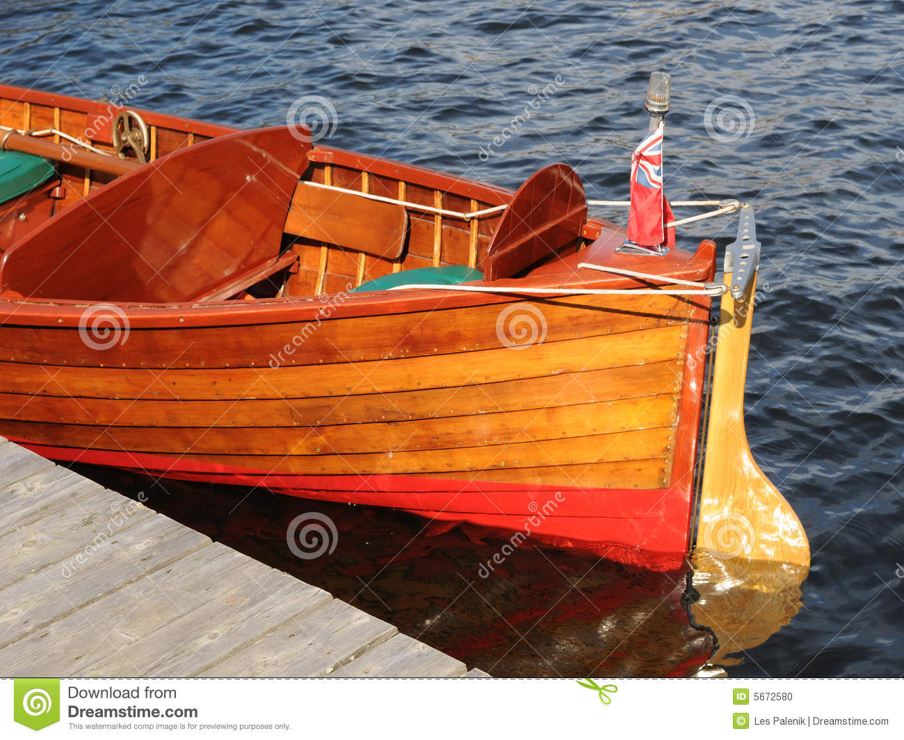Stern Of An Old Wooden Boat Stock Photo - Image: 5672580