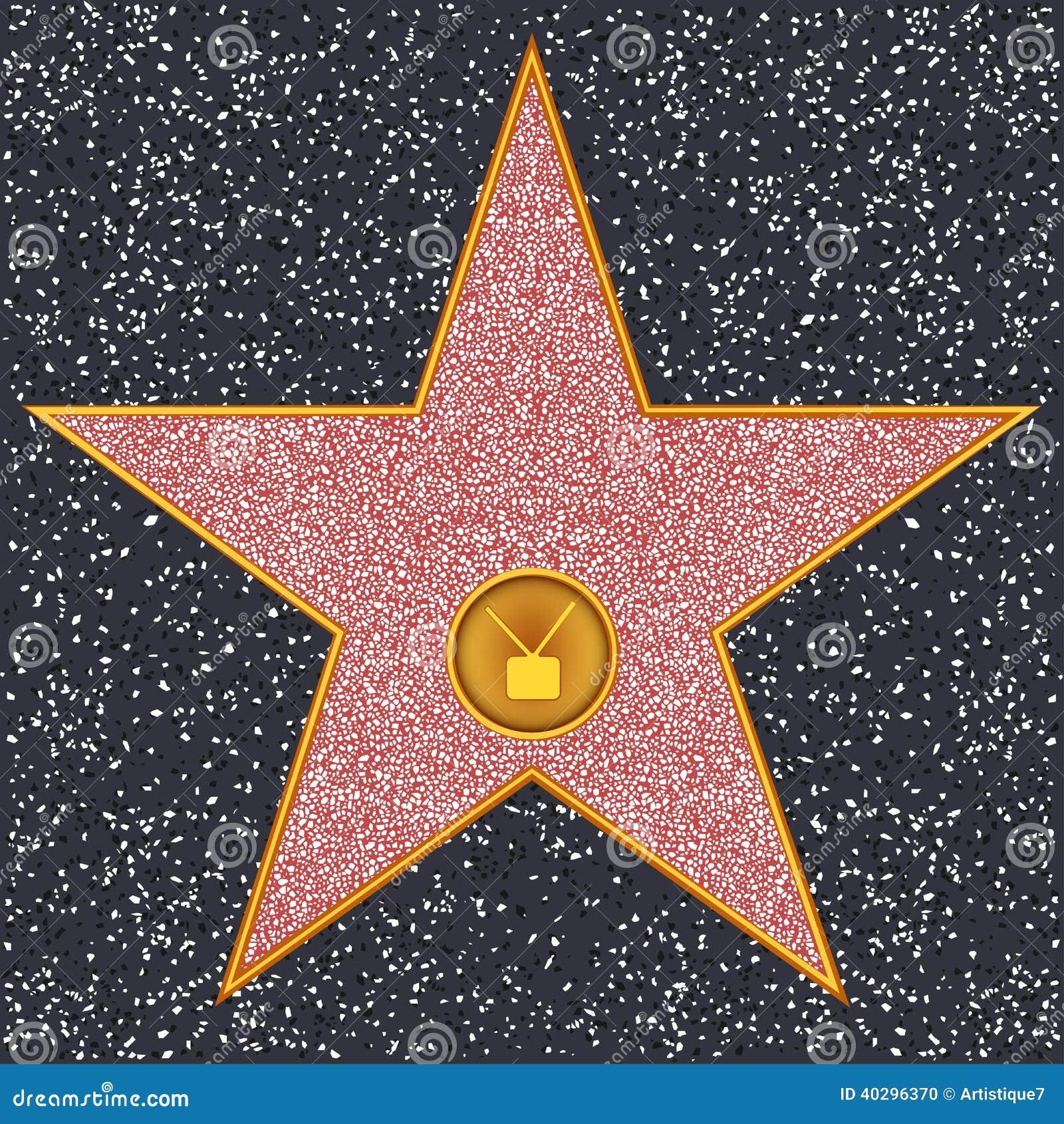 SternTVGerät (HollywoodWeg Des Ruhmes) Vektor Abbildung