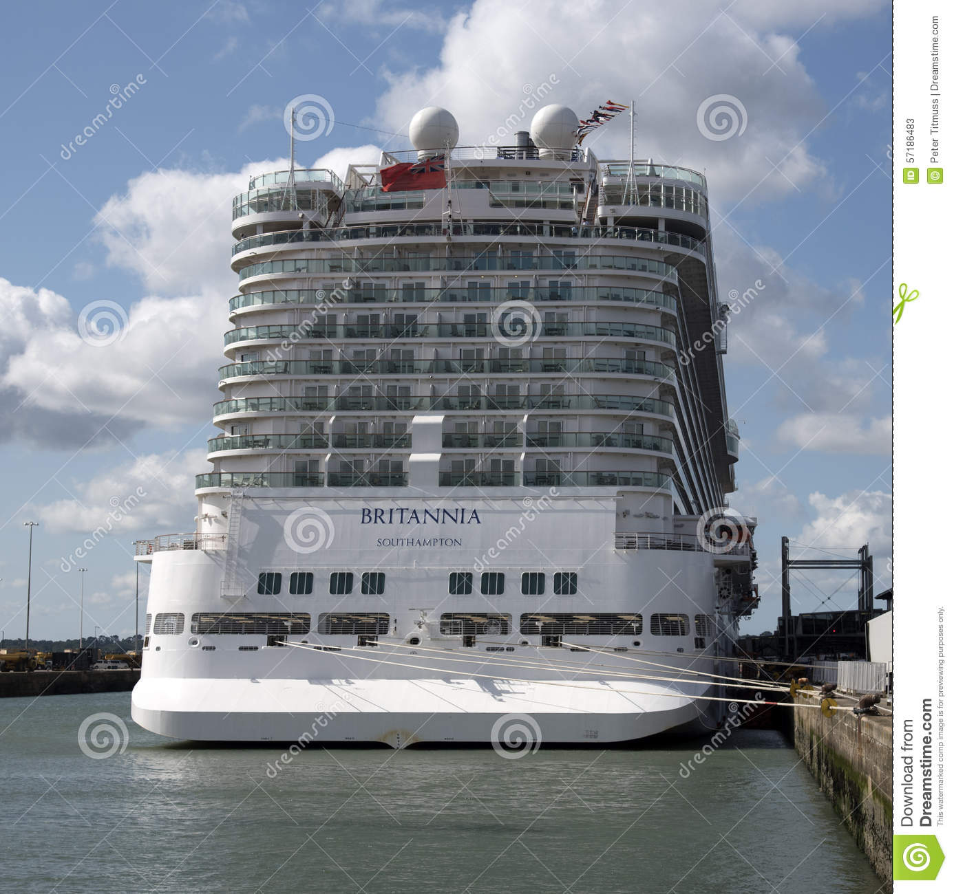 Stern View Of Cabins On A Cruise Ship Editorial Stock