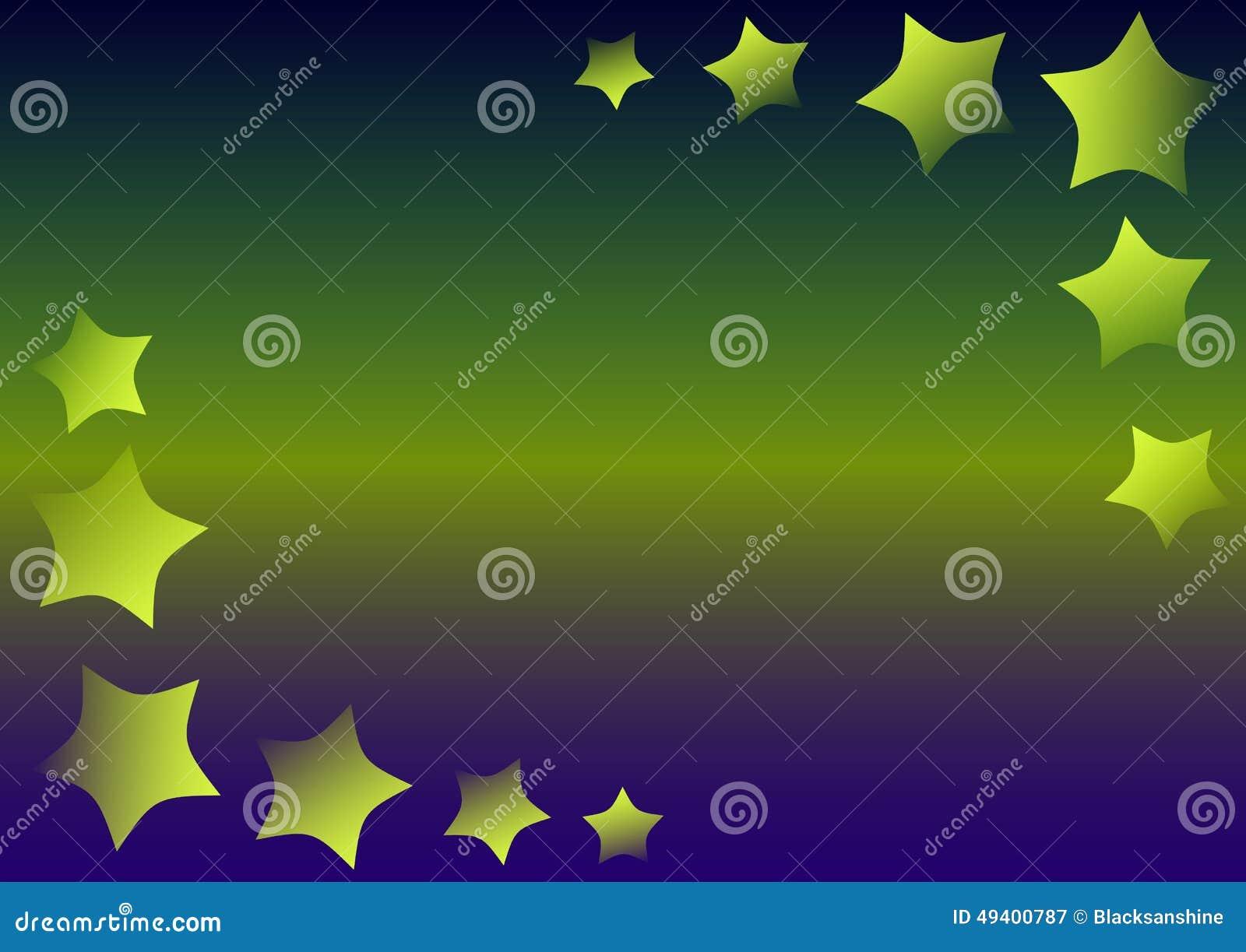 Download Sterne auf einer Steigung vektor abbildung. Illustration von farbton - 49400787