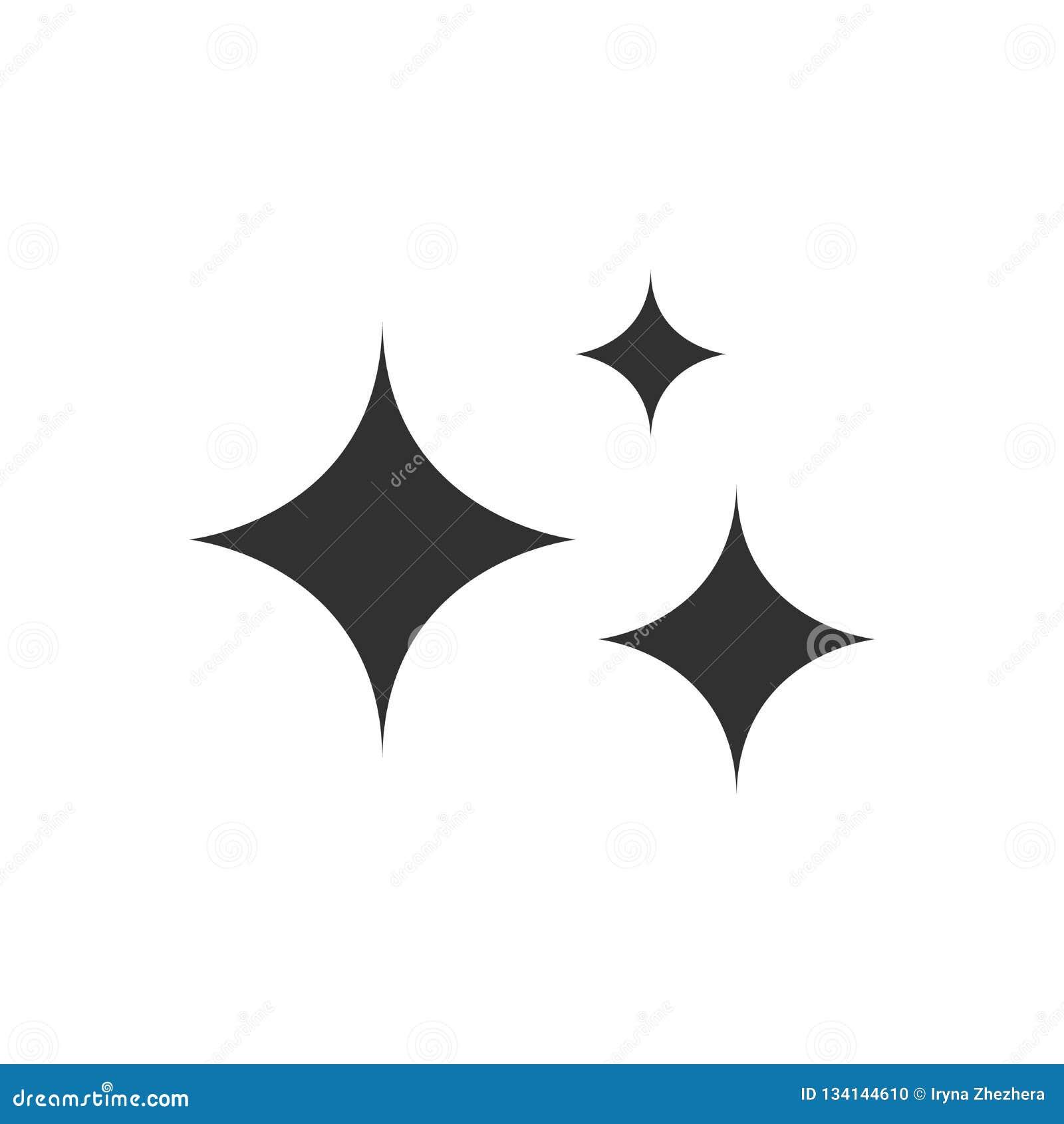 Sterne der Helligkeit und des Strahlens von Sauberkeit und von Frische Säubern, frisch, Hygiene und Glanz im Haus flache Vektorka