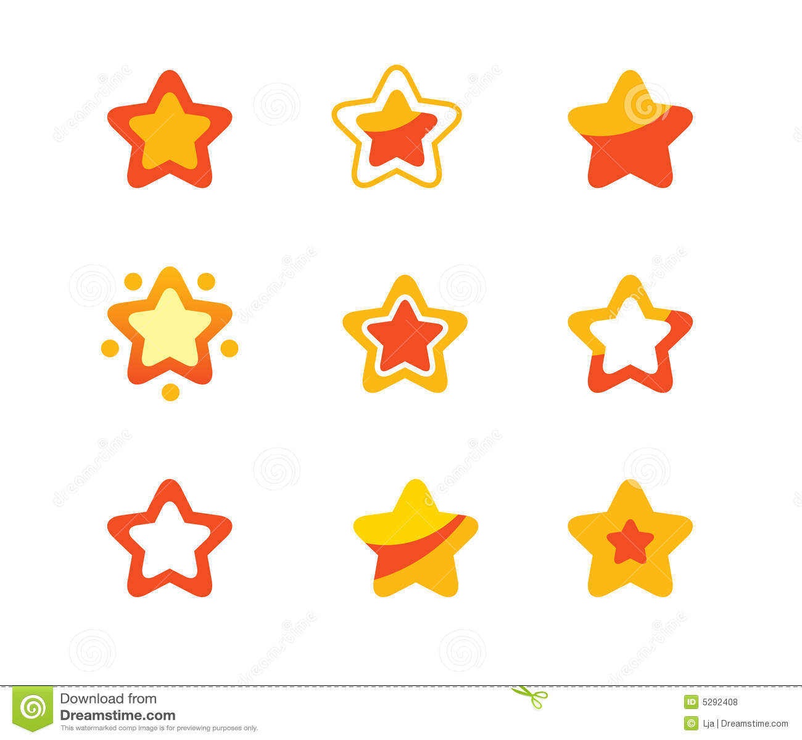 Sterne eingestellt