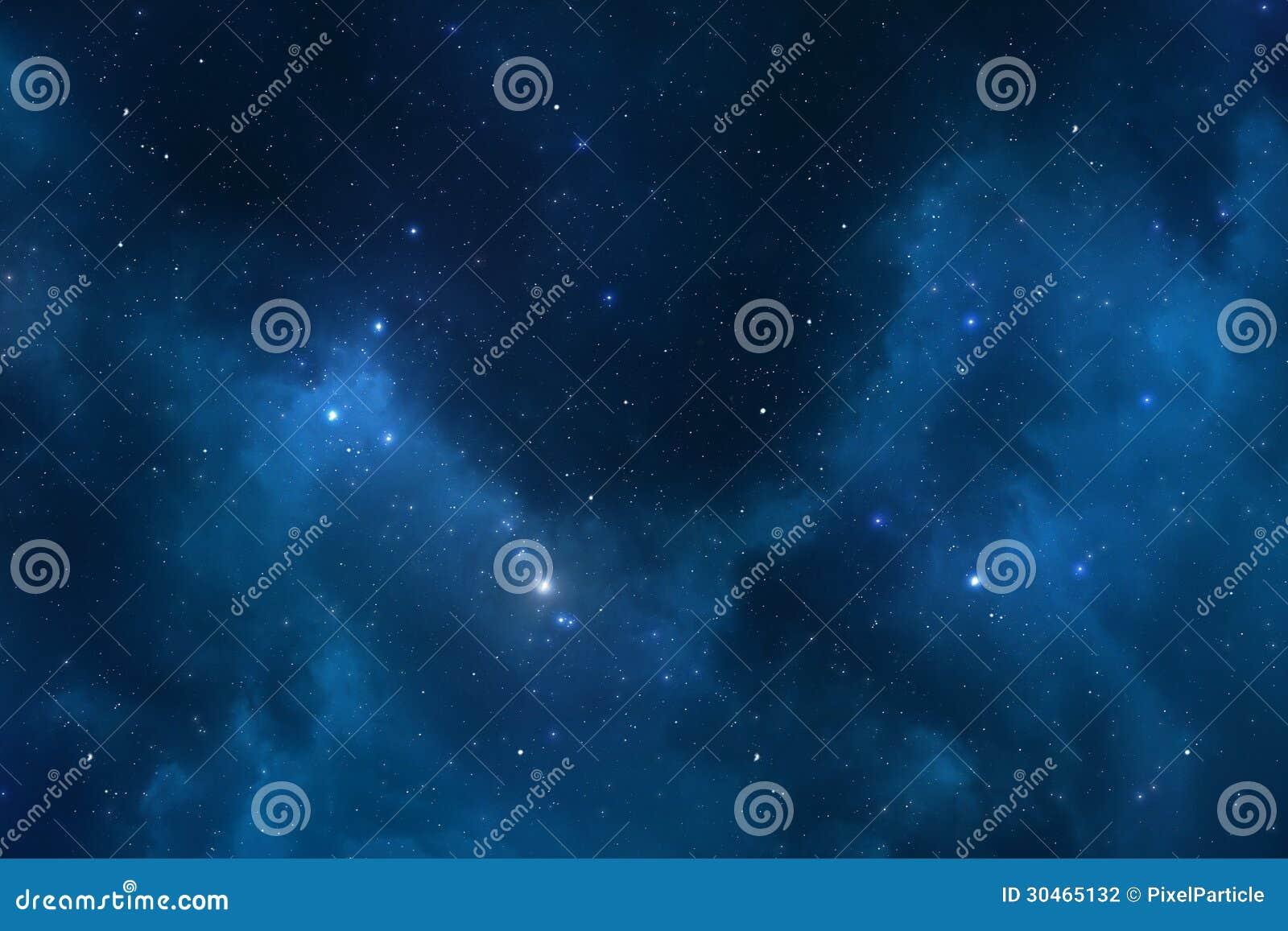 Sternenklarer Raumhintergrund des nächtlichen Himmels