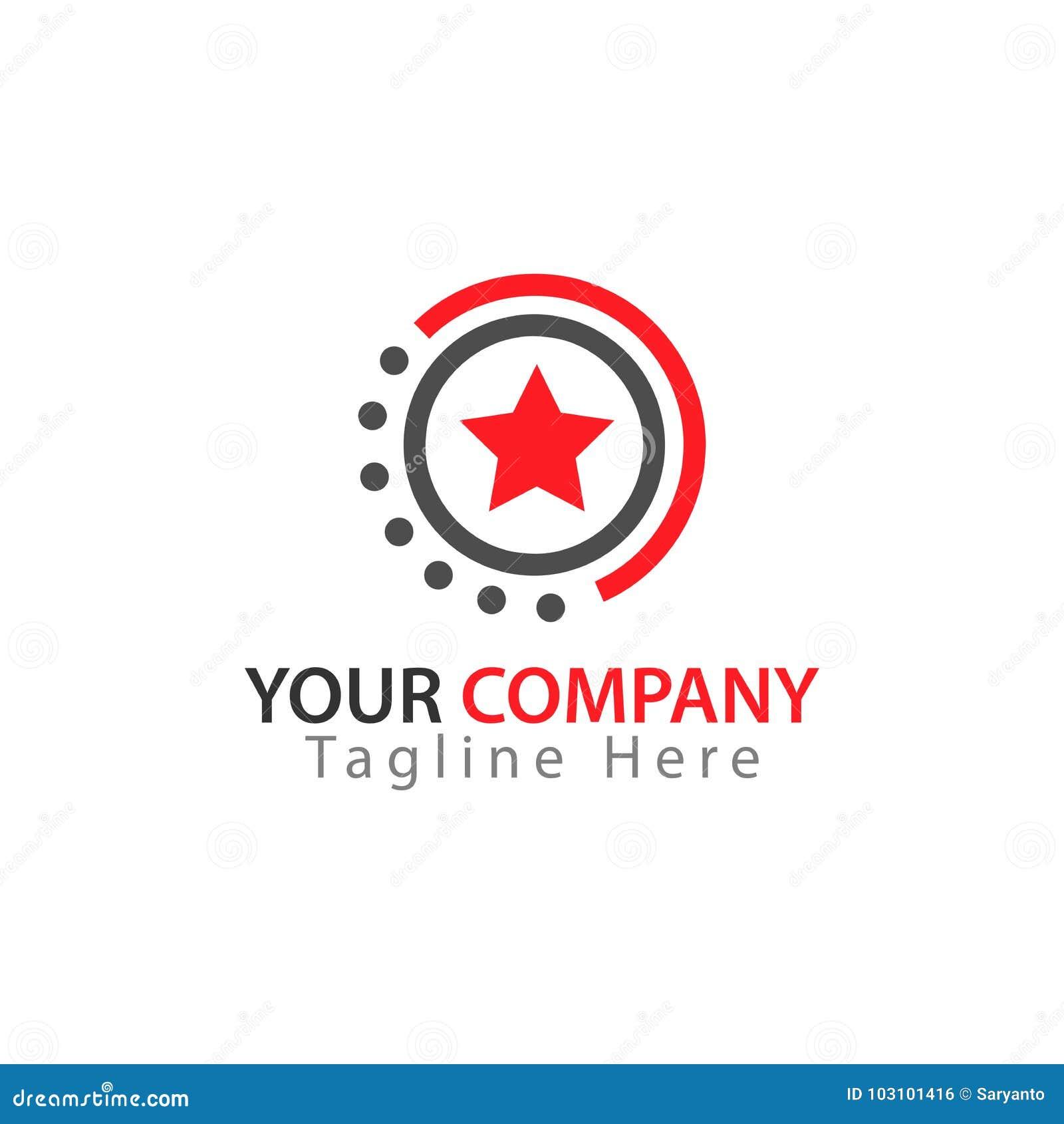Sternikone im Kreis, Stern Logo Vector