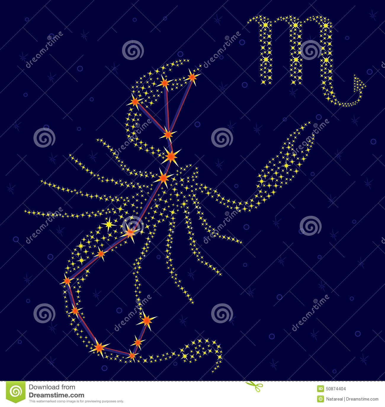 sternzeichen skorpion ber sternenklarem himmel stock abbildung bild 50874404. Black Bedroom Furniture Sets. Home Design Ideas