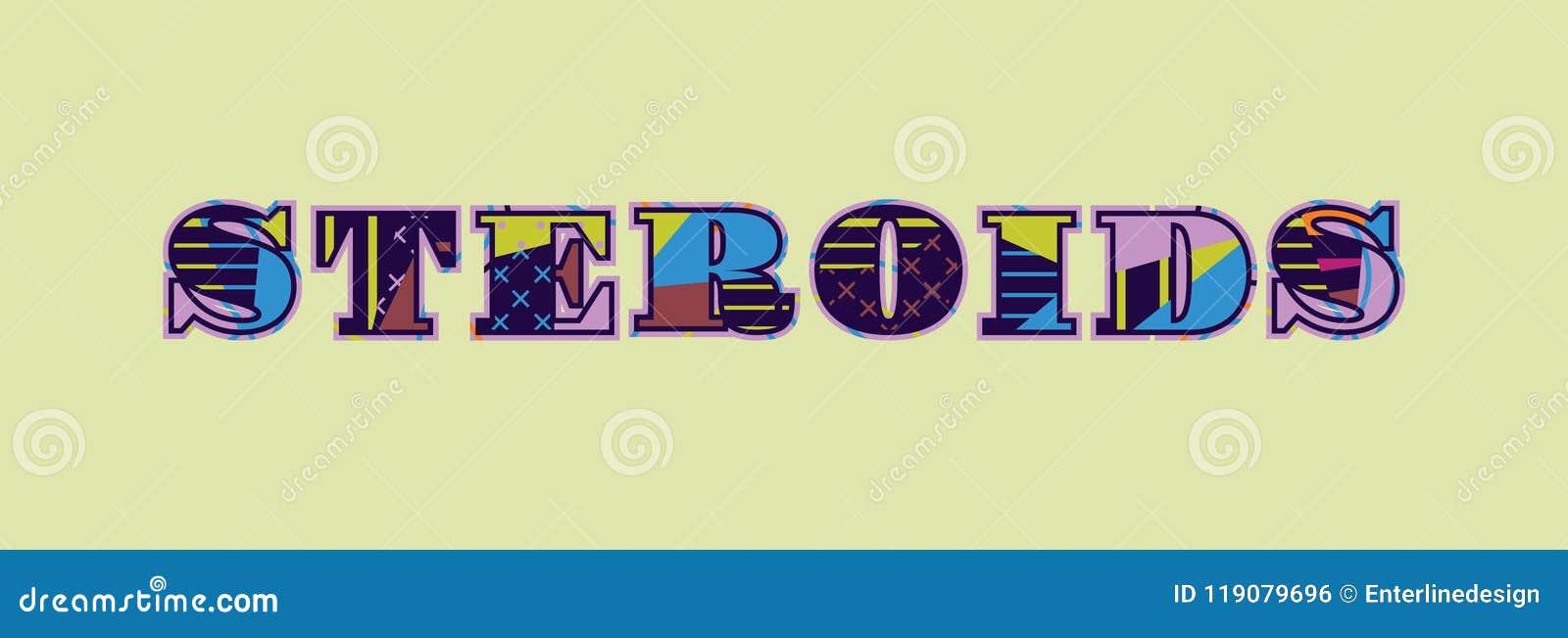 Steroids Concept Word Art Illustration Stock Vector