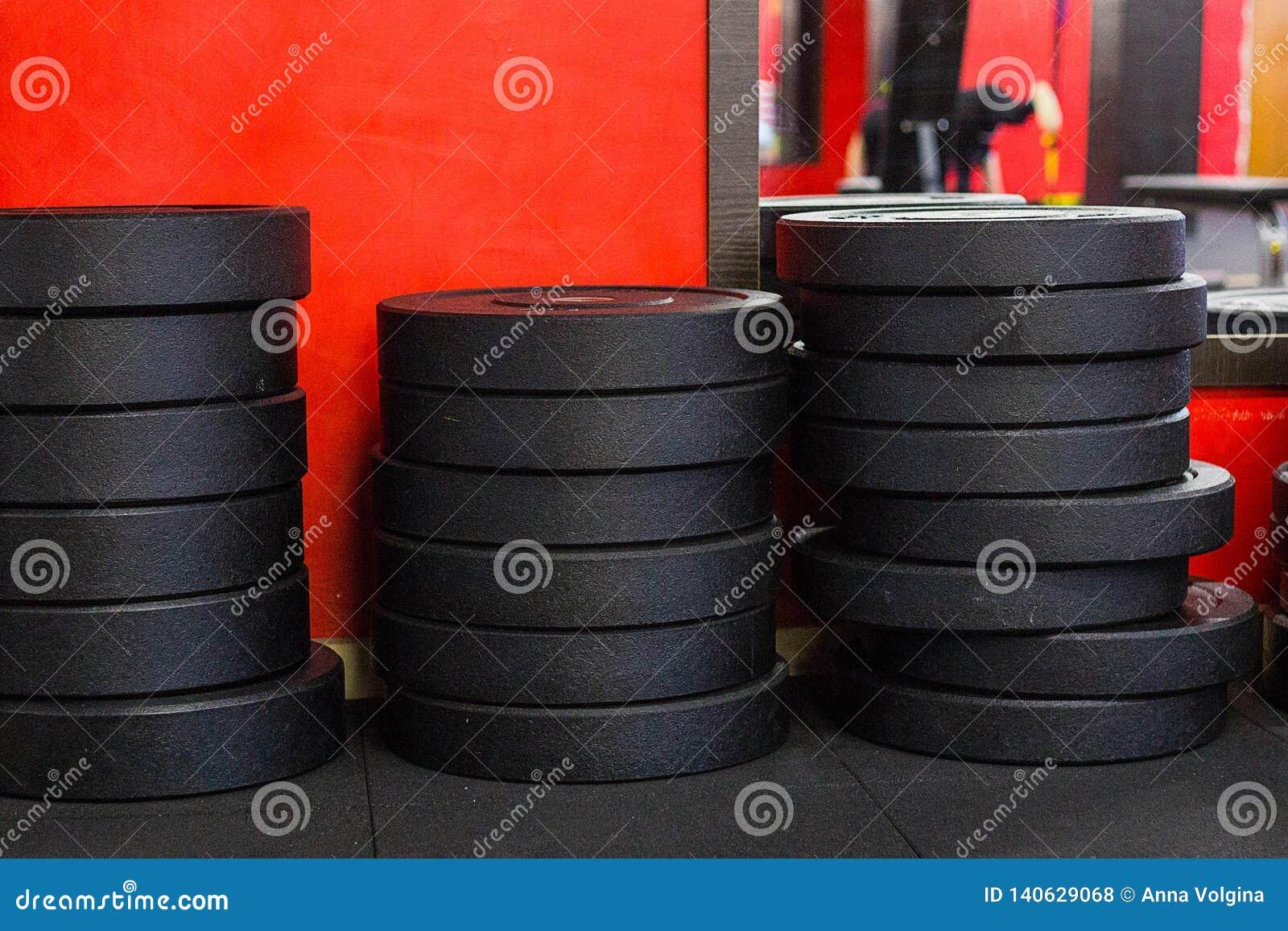 Sterta żelazni dysków ciężary w gym