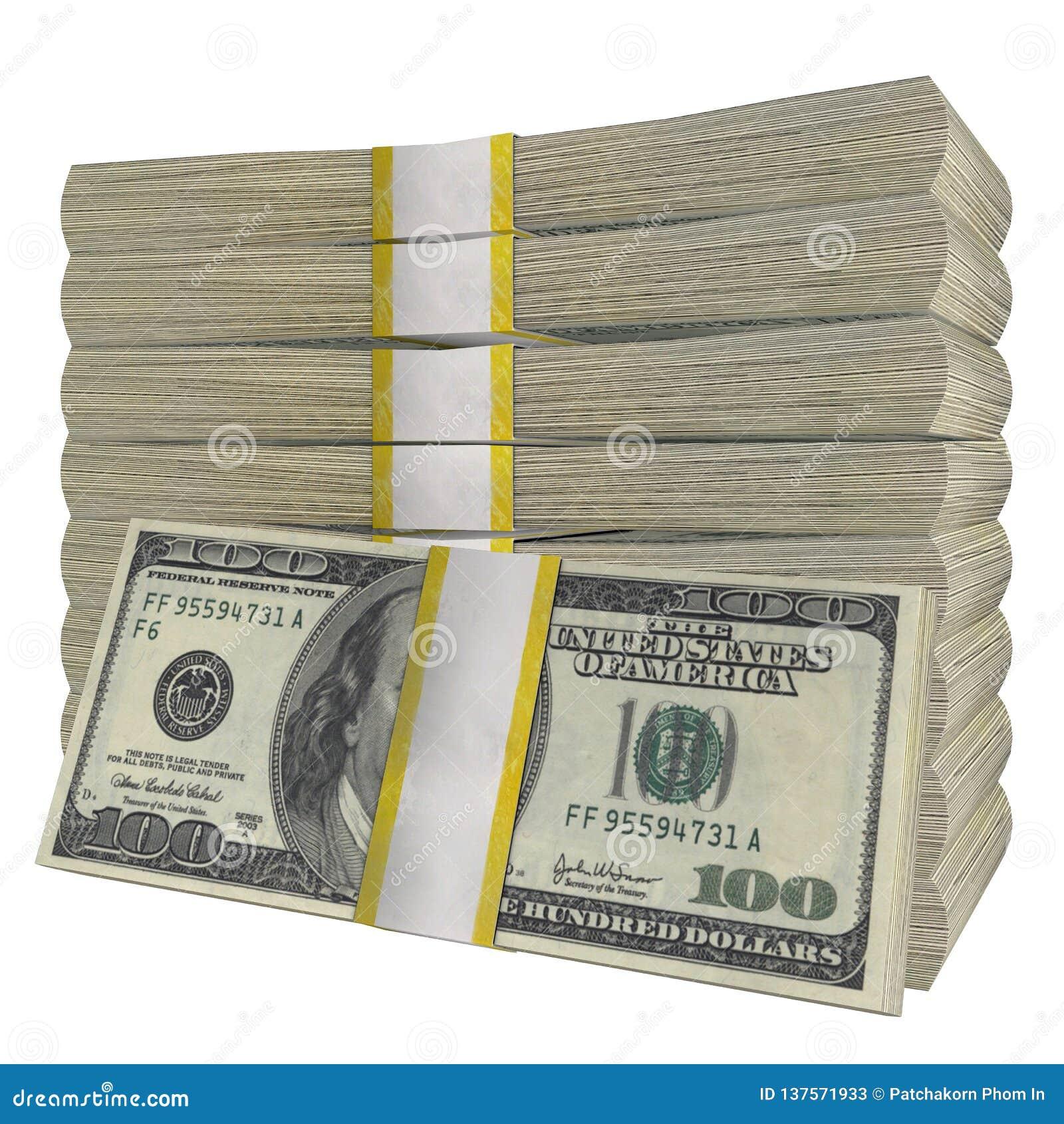 Sterta 100 dolarów banknotu rachunku usa pieniądze banknotu bielu tła odosobniony