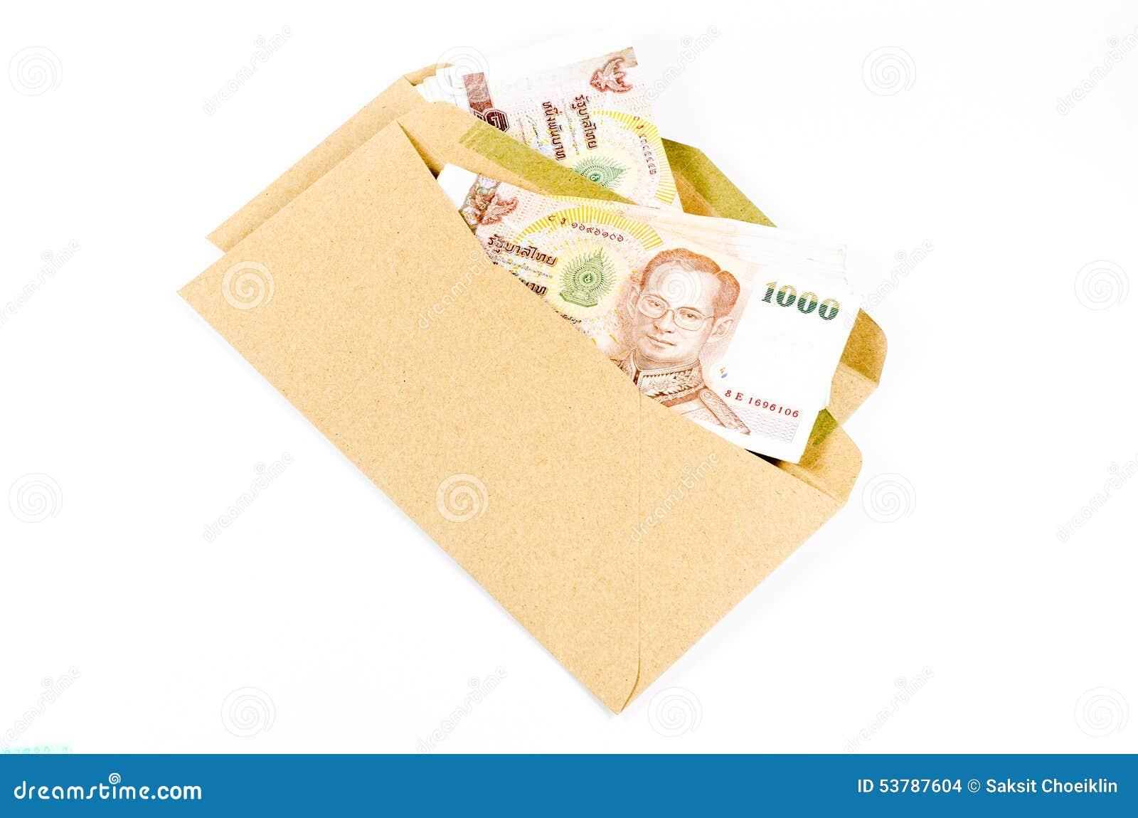 Sterta tajlandzki banknot na brązie rozwija