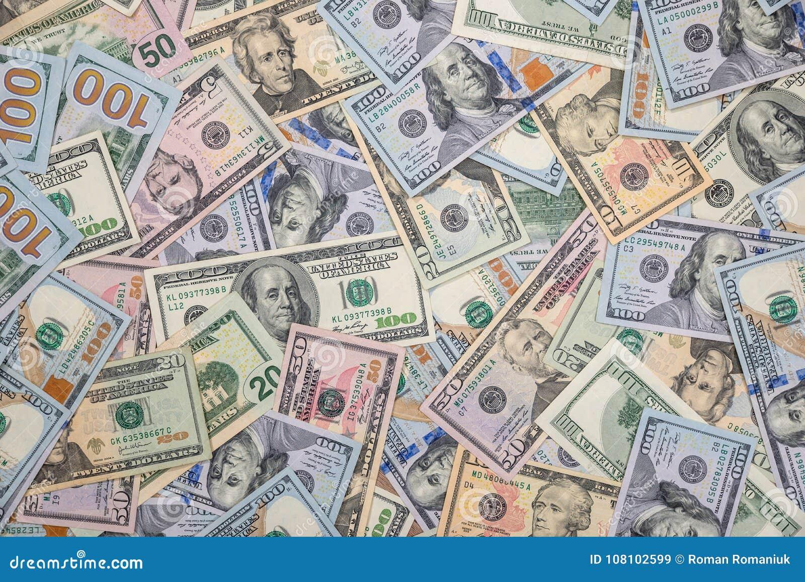 Sterta USA dolary w gotówce