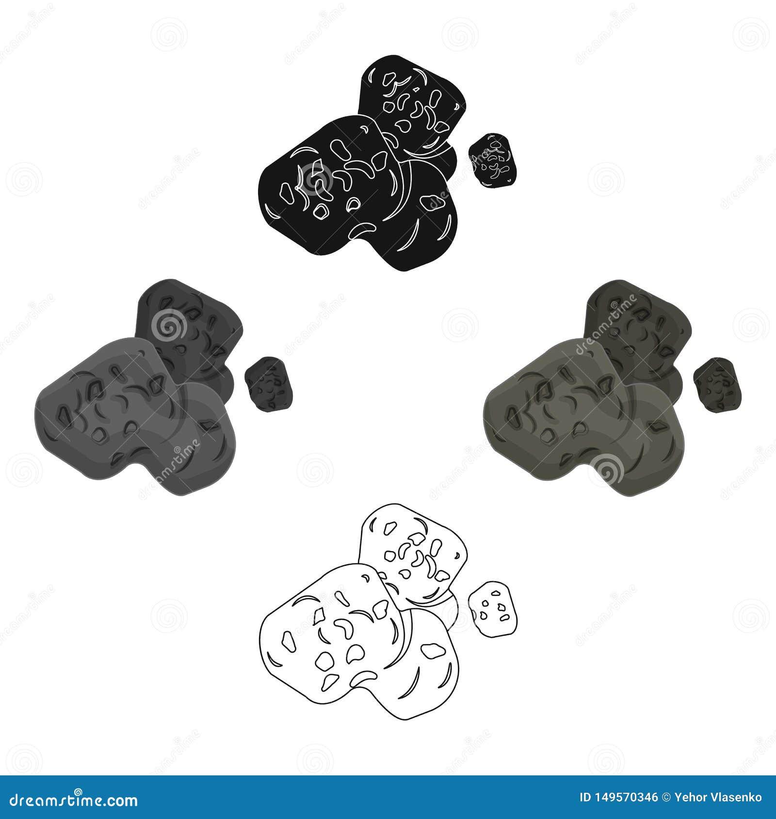 Stervormig pictogram in beeldverhaal, zwarte stijl die op witte achtergrond wordt ge?soleerd De voorraad vectorillustratie van he