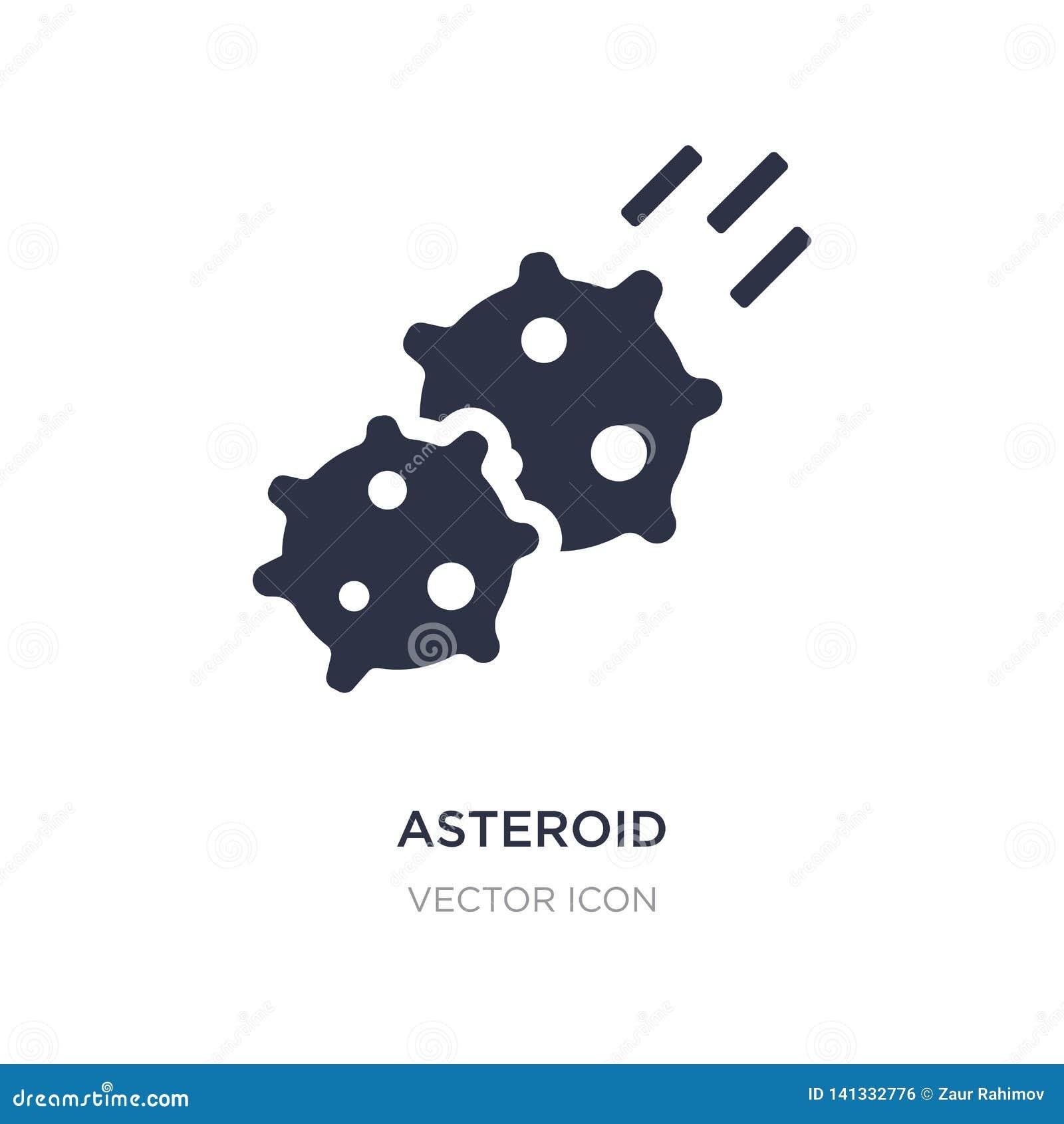 Stervormig pictogram op witte achtergrond Eenvoudige elementenillustratie van Astronomieconcept