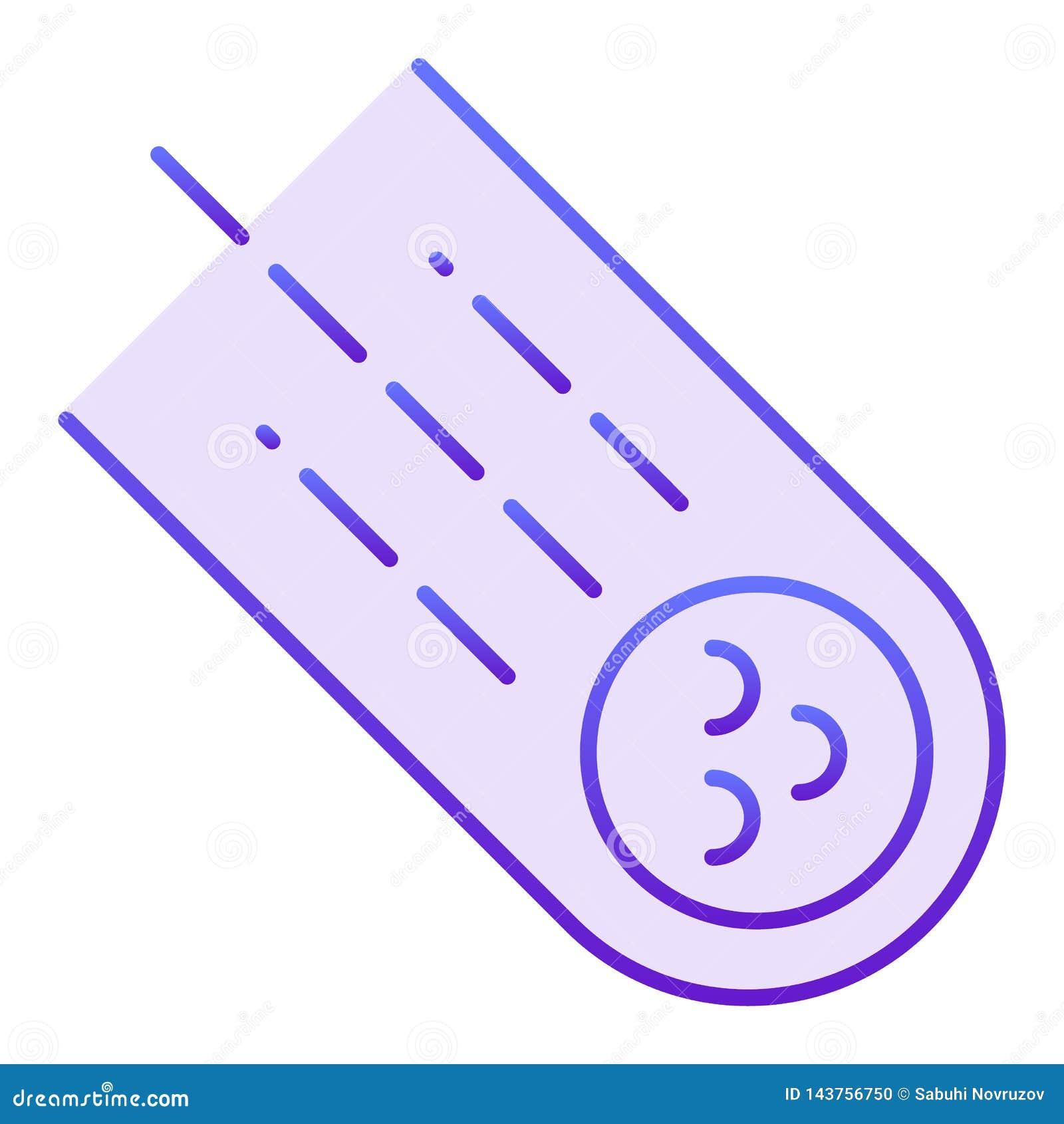 Stervormig vlak pictogram Meteoriet violette pictogrammen in in vlakke stijl De stijlontwerp van de komeetgradiënt, voor Web dat