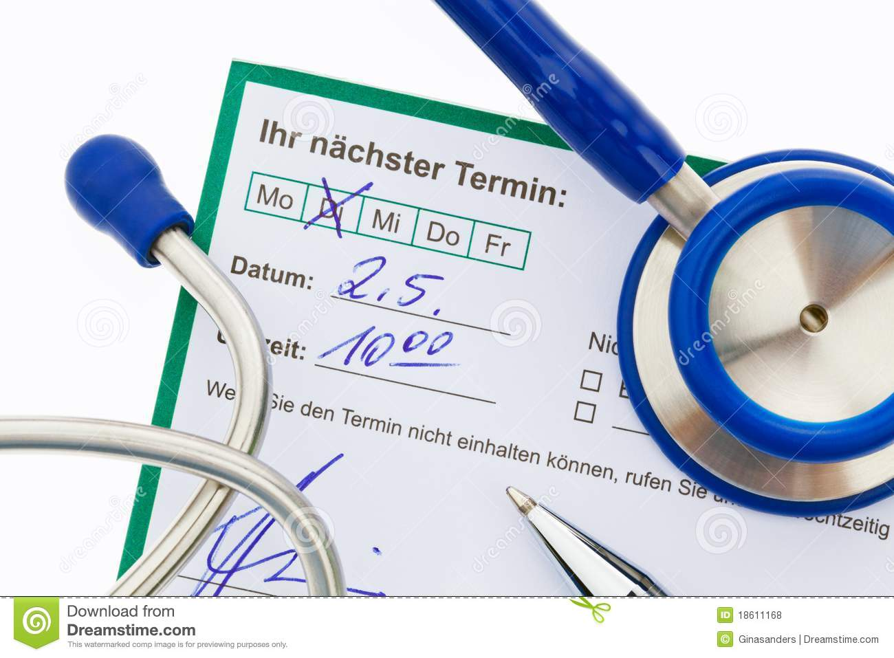 stethoscope and calendar medical appointment stock photo image of