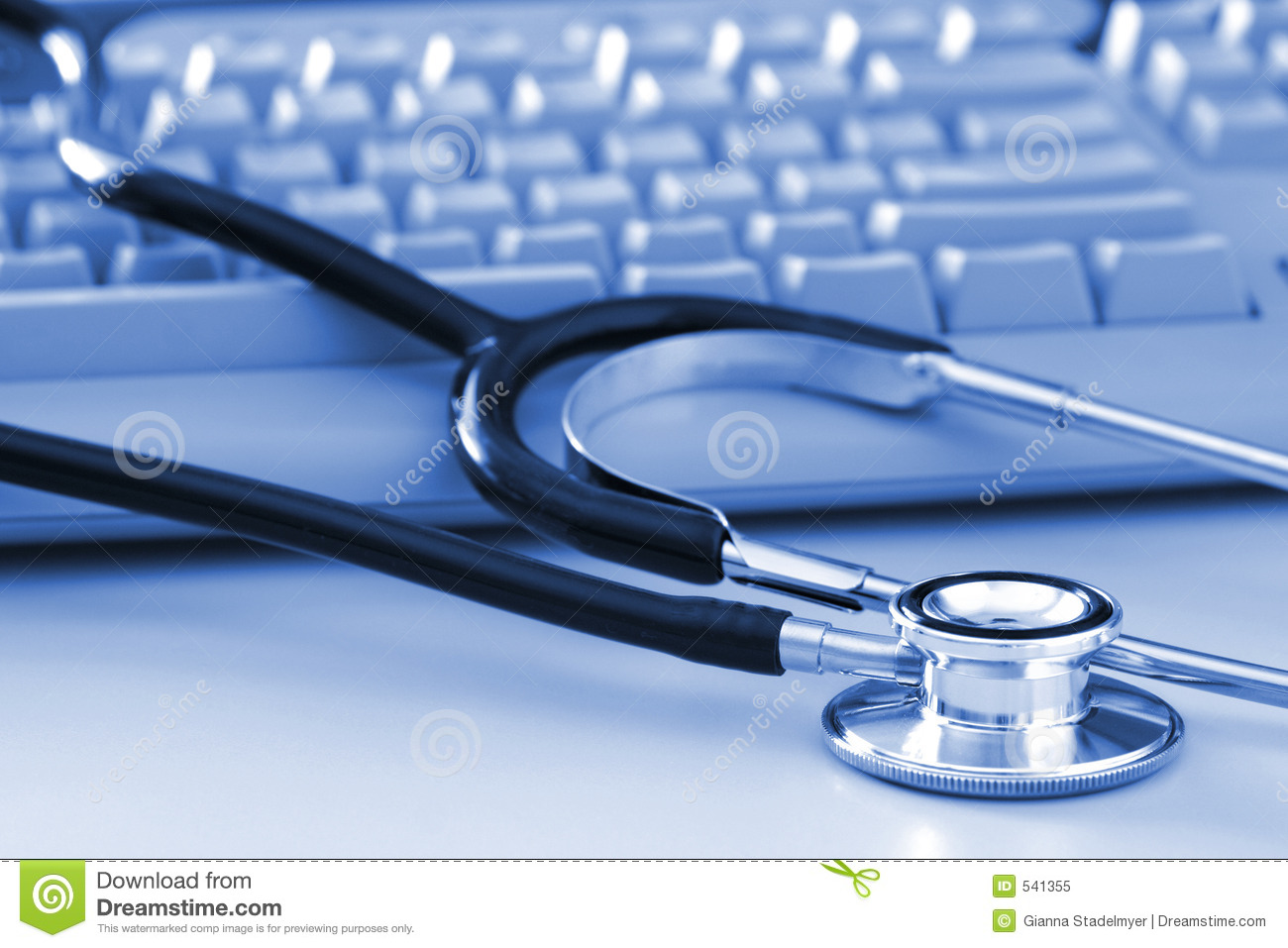 Stethoscope by Computer Keyboard