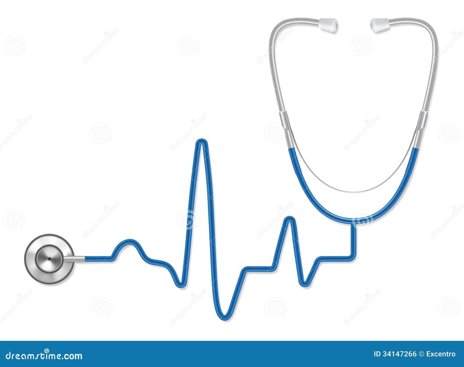 stethoscope stock vector illustration of medicine pulse 34147266