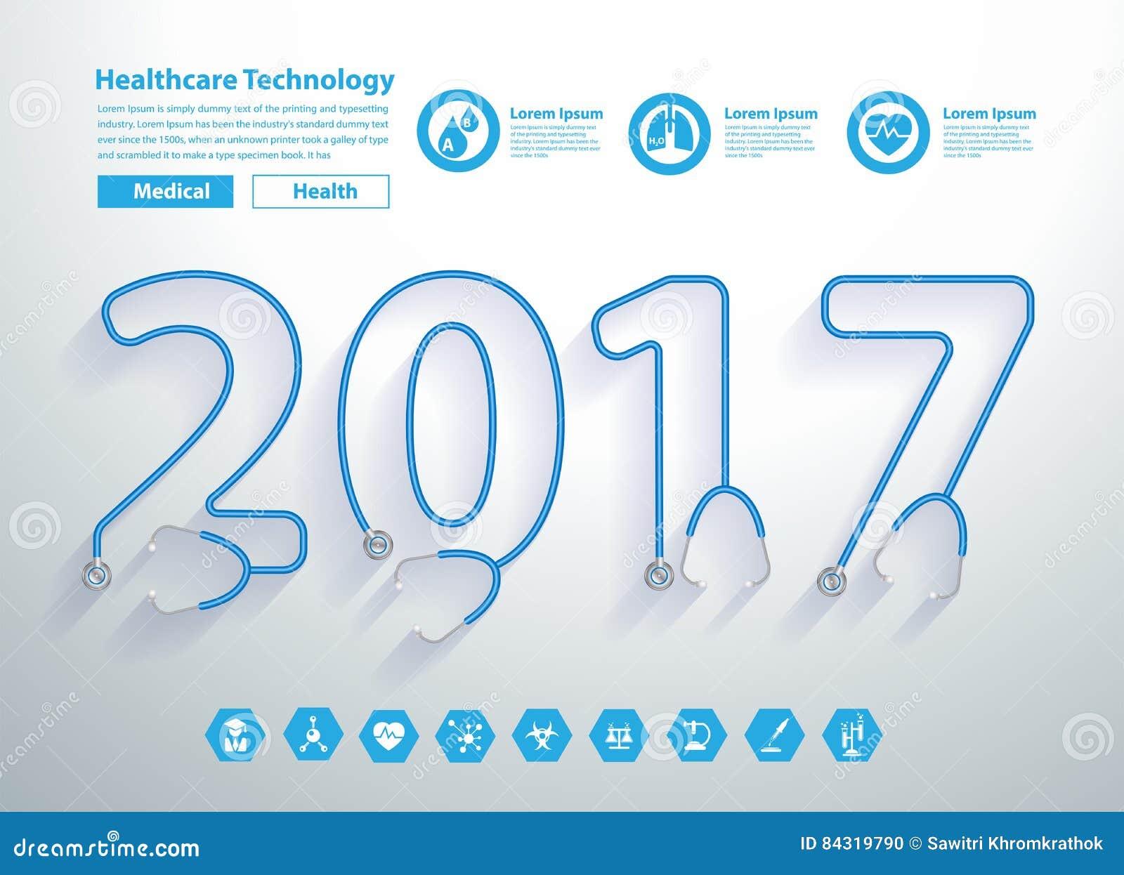 Calendar Cover Design Ideas : Stethoscope heart creative new year design stock