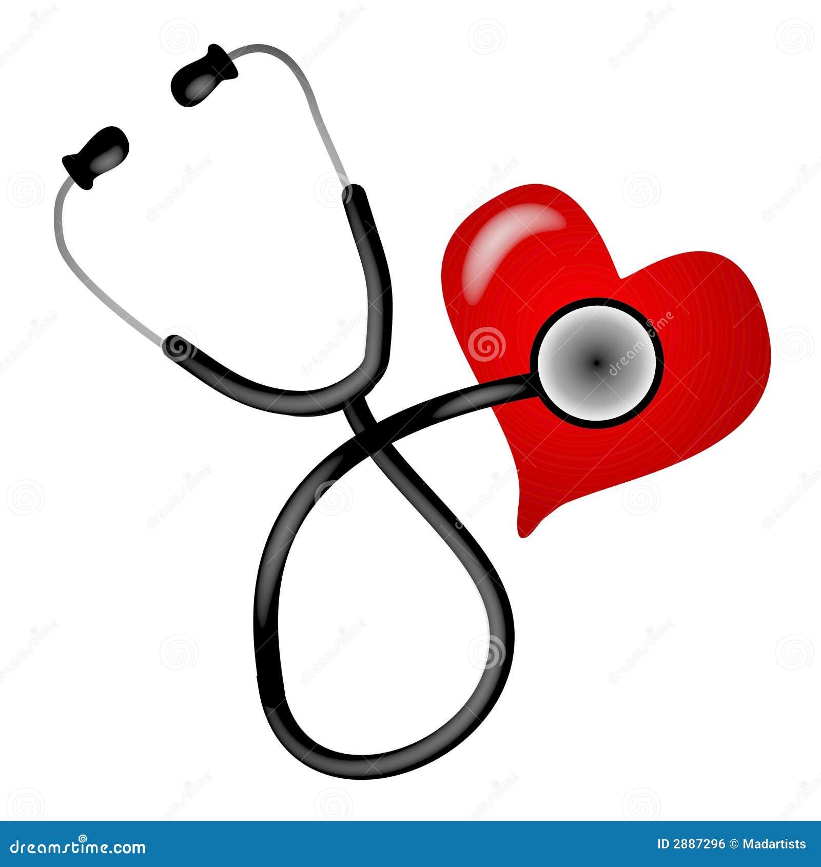 Stethoscope Heart Illustration Stock Illustration ... Doctor Stethoscope Graphic