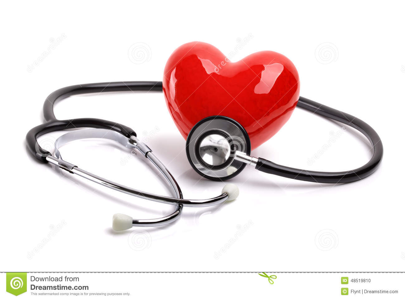stethoscope and heart stock photo image 48519810. Black Bedroom Furniture Sets. Home Design Ideas