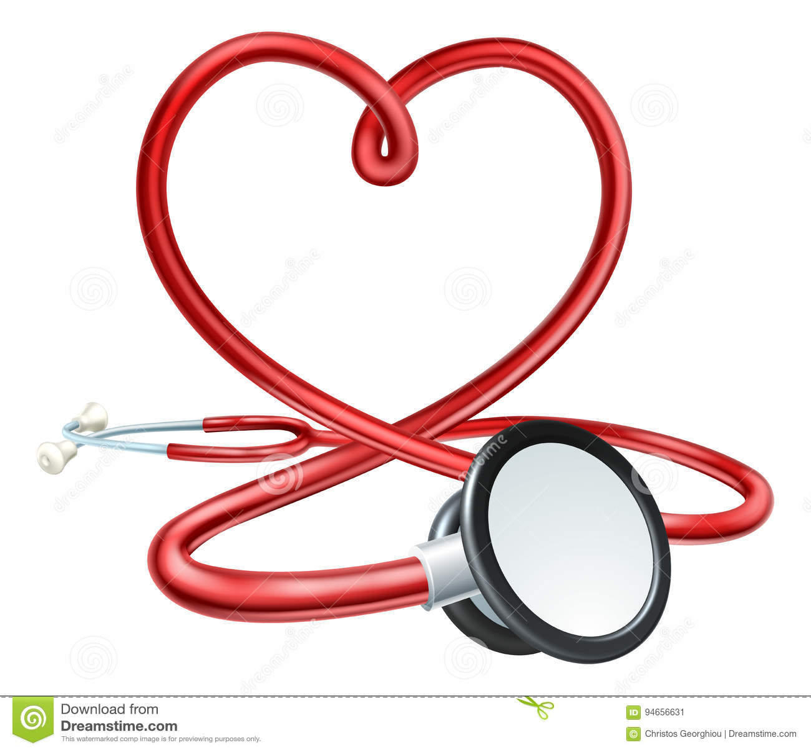 stethoscope heart stock vector   image 94656631