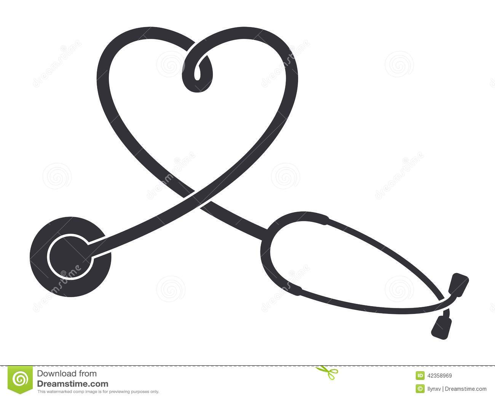 Nursing icons black and white stethoscope icon stock vector image