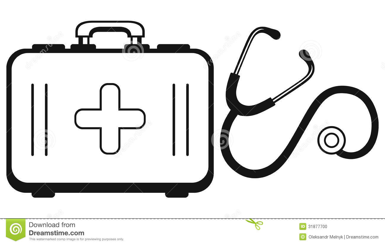 Stethoscope And Medicine Chest Stock Vector Image 31877700