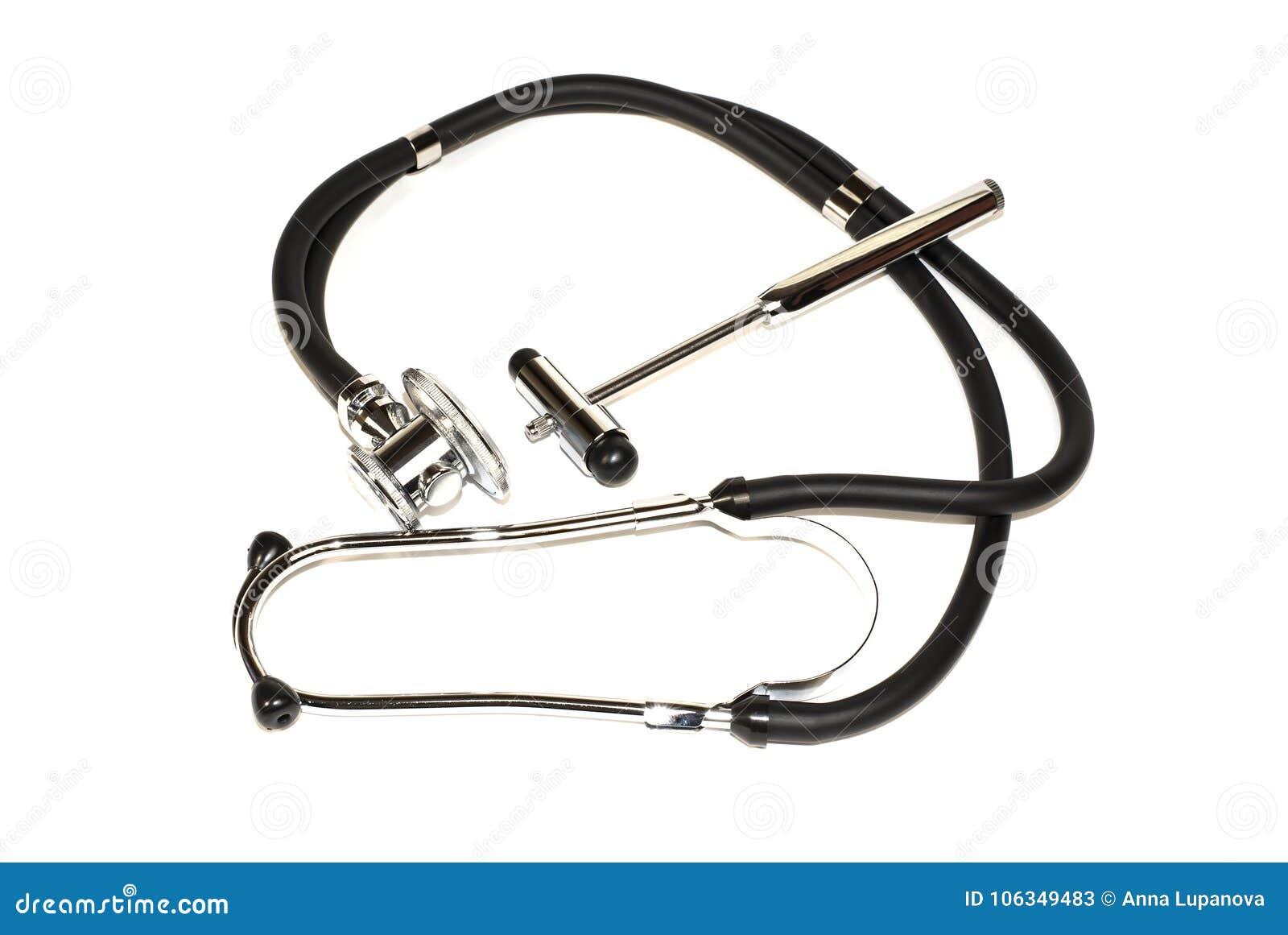 Stethoscope and neurological hammer