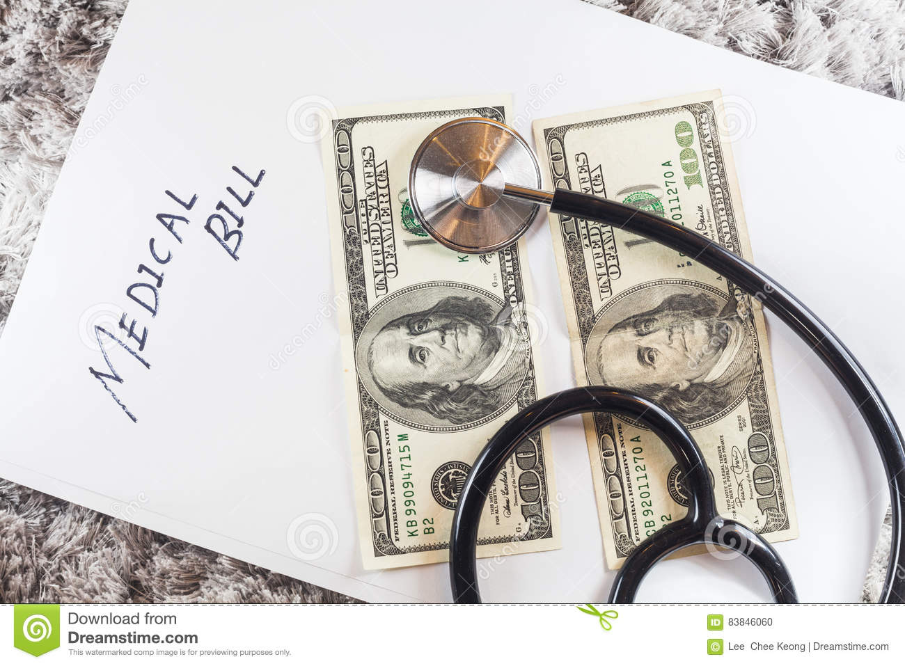 stethoscope with us dollar notes stock photo image of credit